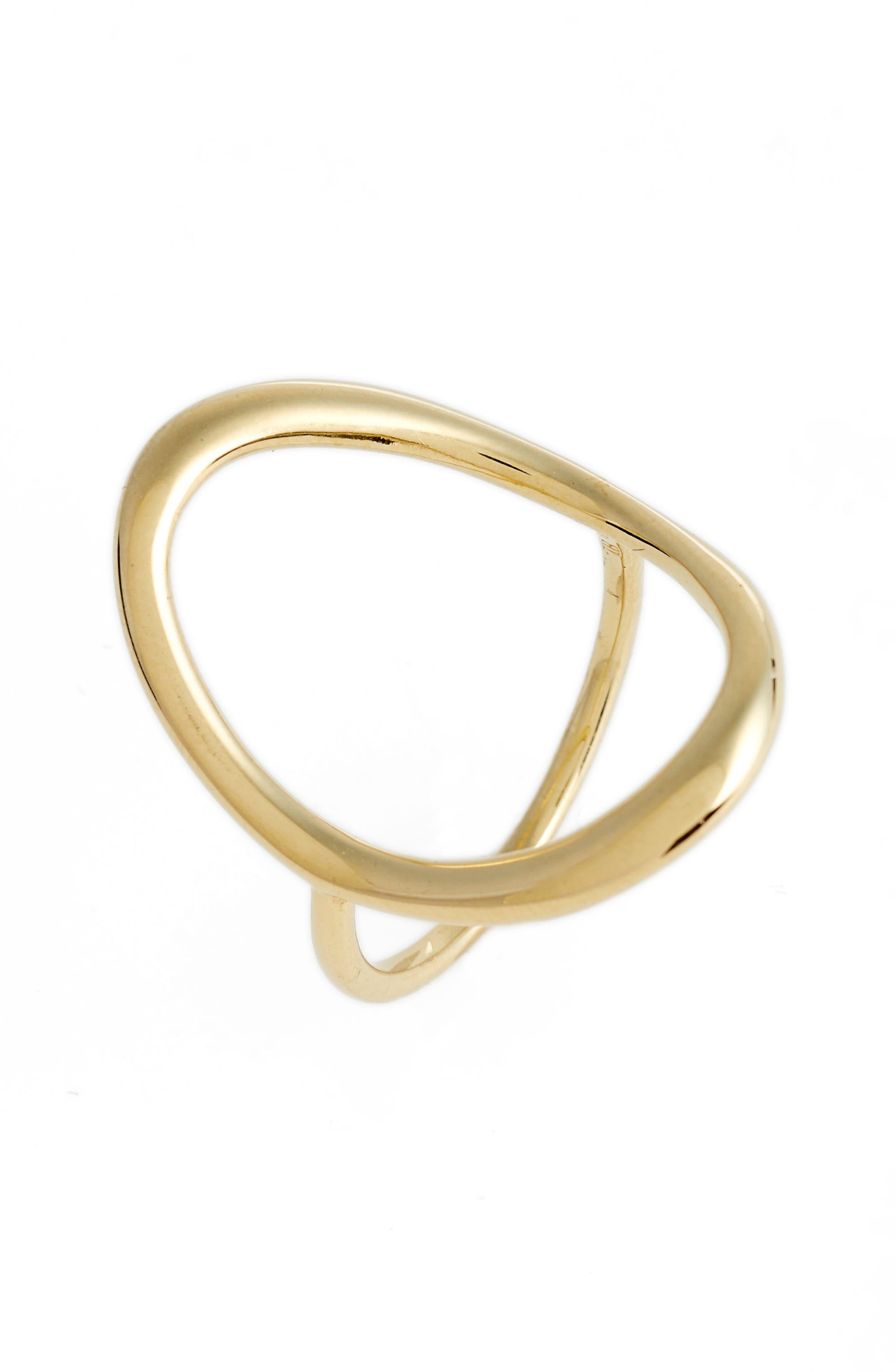 Stackable Open Circle Ring,                             Main thumbnail 1, color,