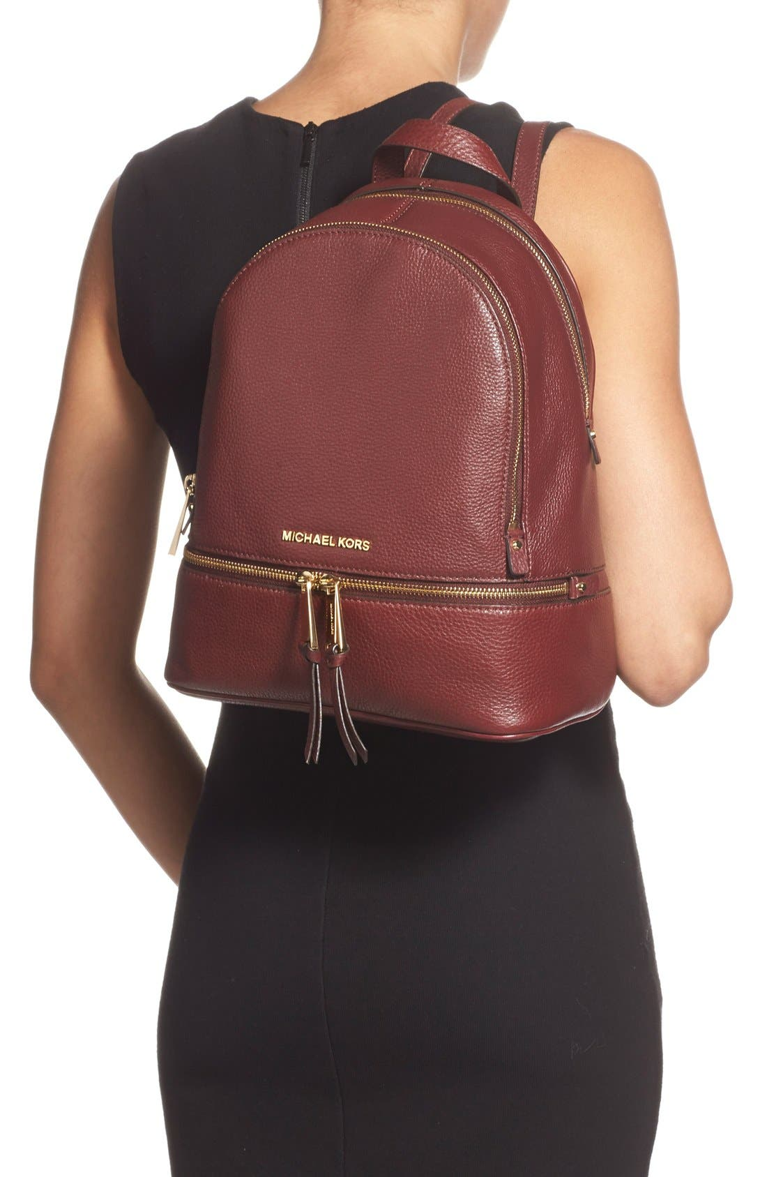 'Extra Small Rhea Zip' Leather Backpack,                             Alternate thumbnail 40, color,