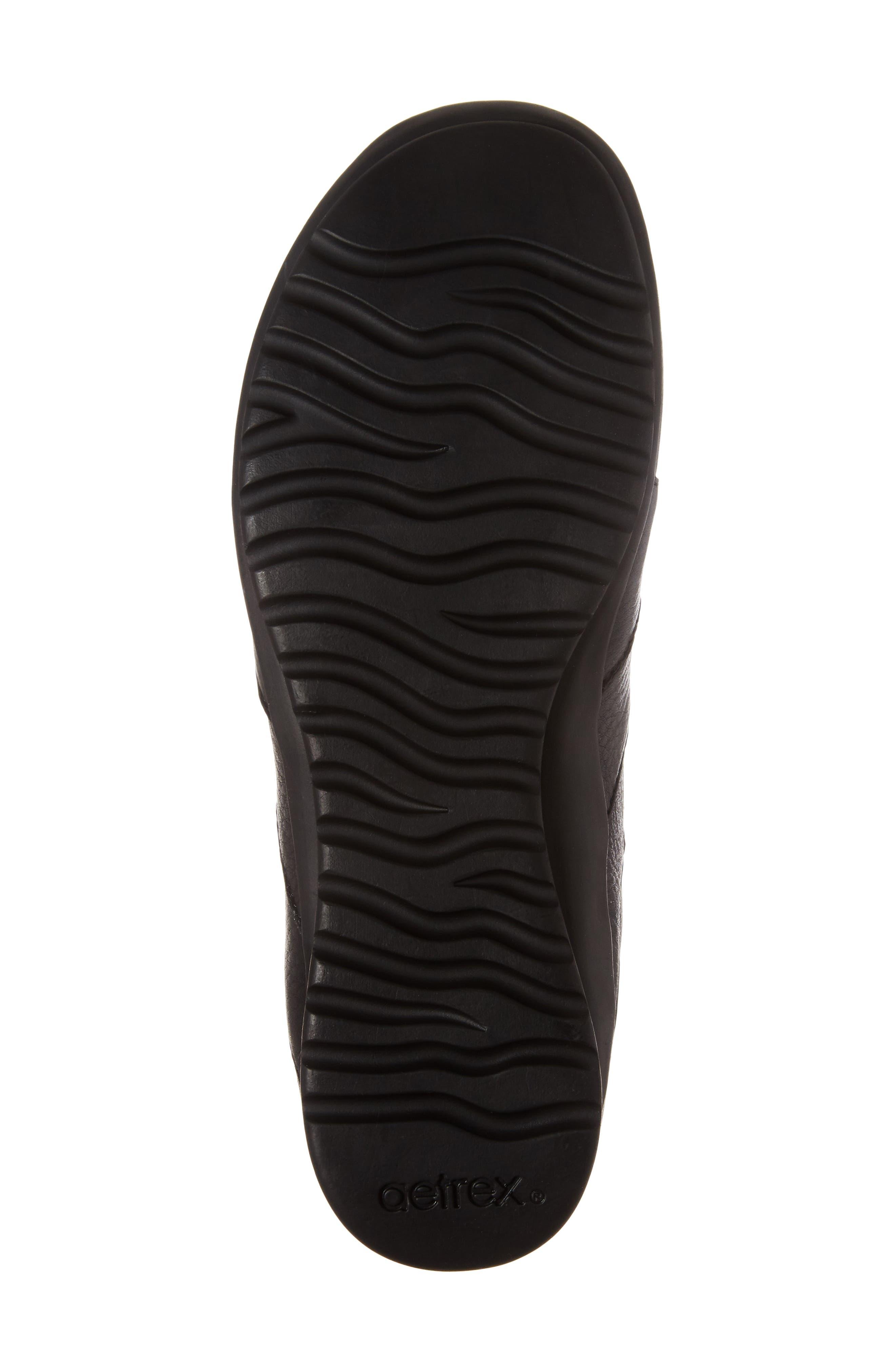 Sienna Cutout Sneaker,                             Alternate thumbnail 6, color,                             BLACK LEATHER/ BLACK