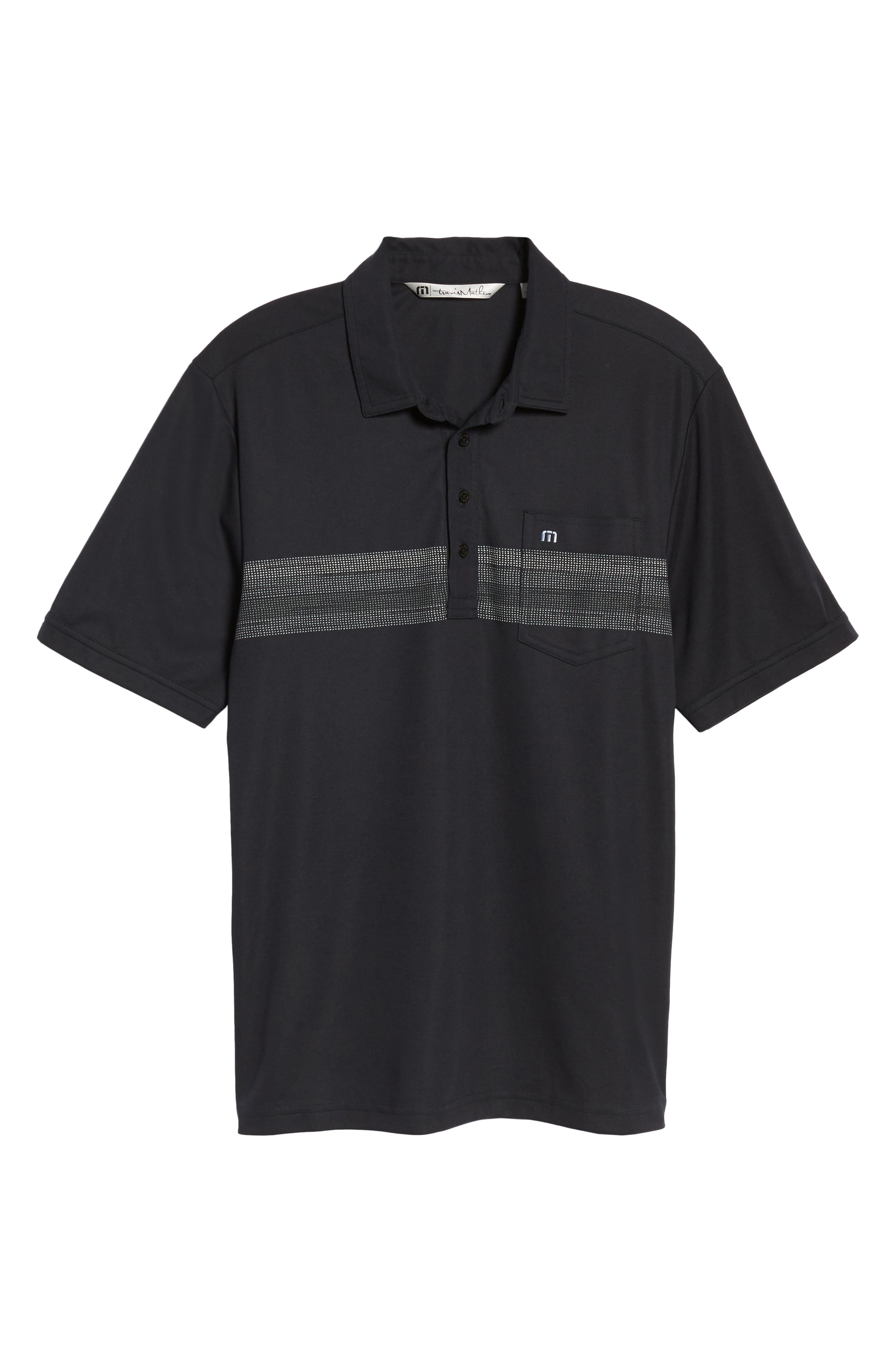 Frisch Chest Stripe Polo,                             Alternate thumbnail 6, color,                             001