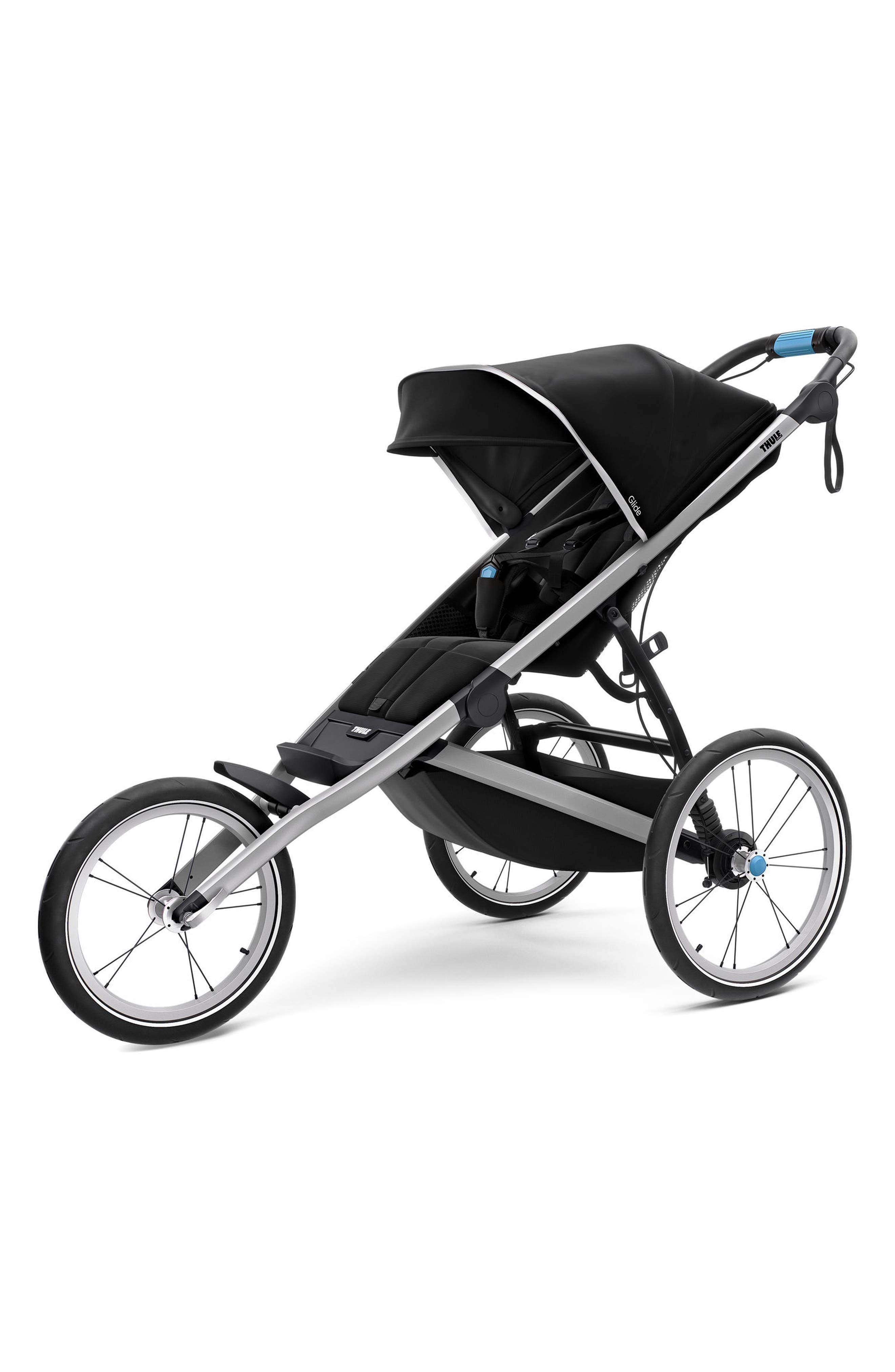 2018 Glide 2 Jogging Stroller,                         Main,                         color, BLACK/ SILVER FRAME