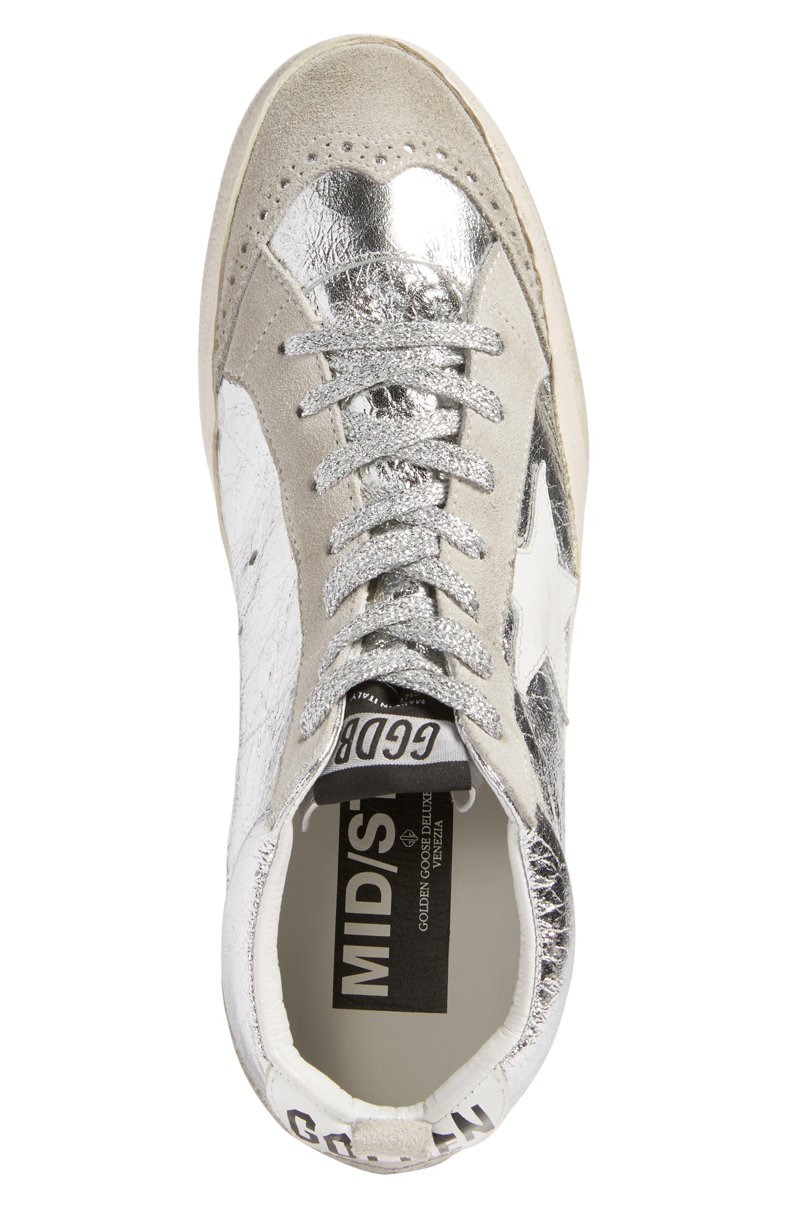 Mid Star Metallic Sneaker,                             Alternate thumbnail 5, color,                             040