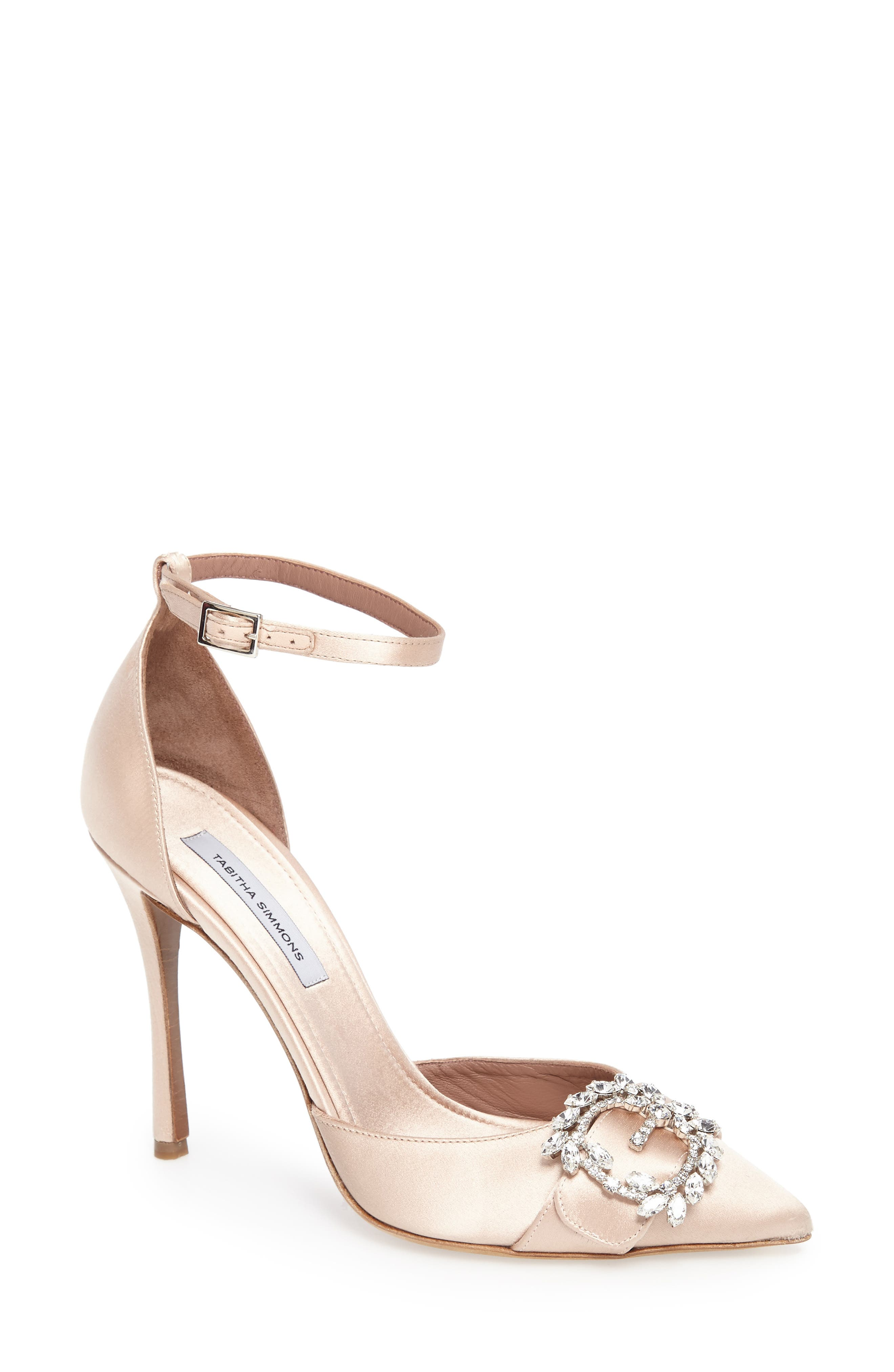 Tie The Knot Crystal Buckle Pump,                             Main thumbnail 1, color,                             250