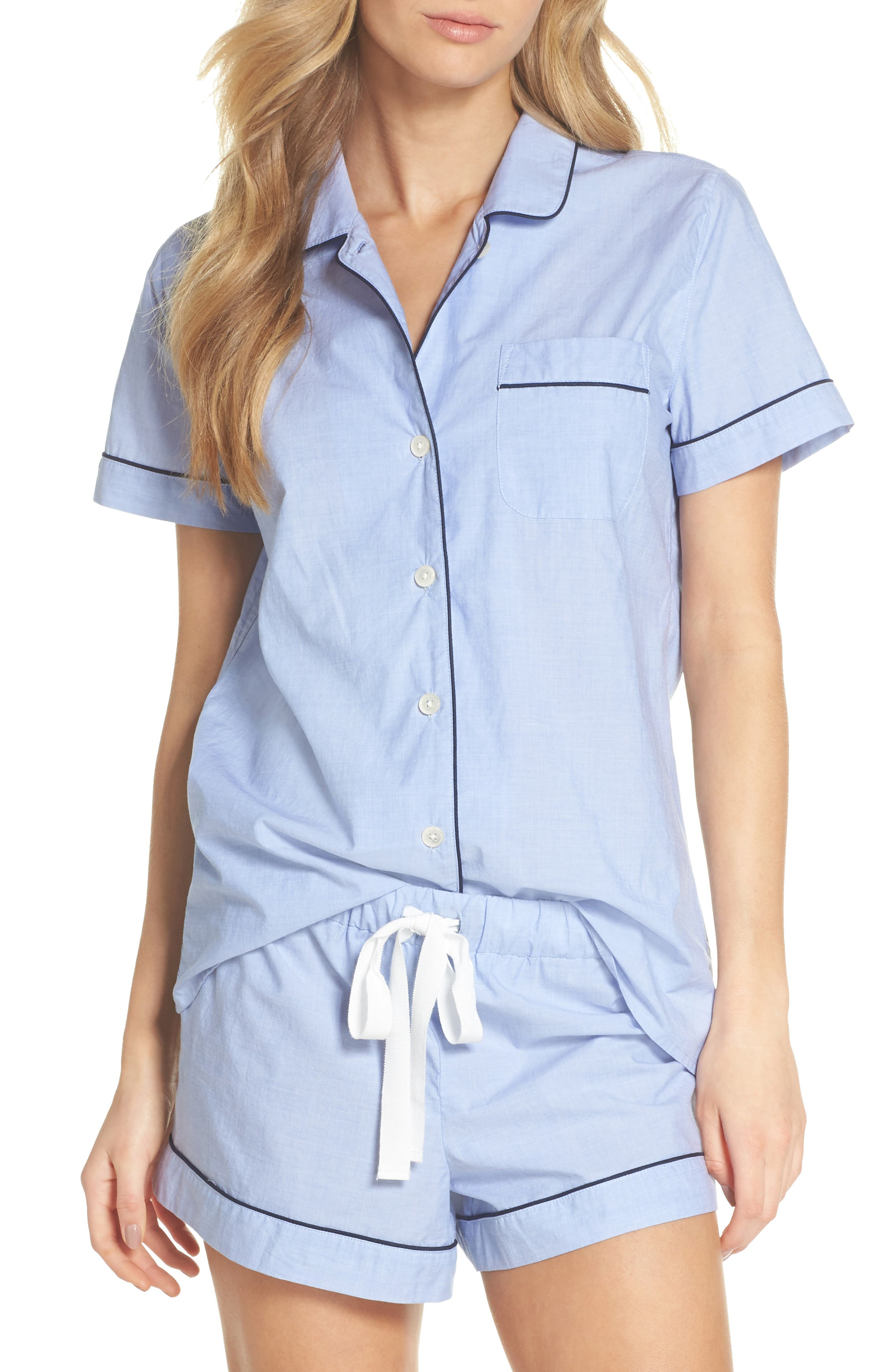 Tipped Short Pajamas,                             Main thumbnail 1, color,                             400