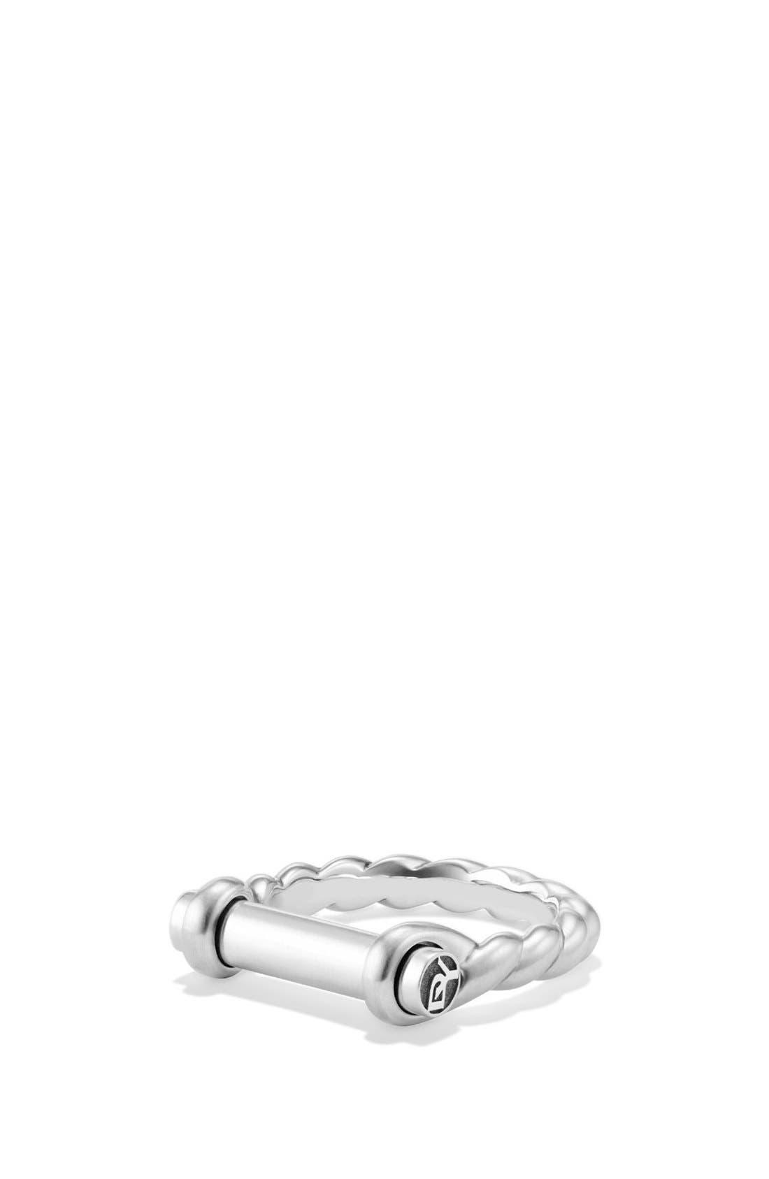 'Maritime' Shackle Ring,                             Main thumbnail 1, color,                             SILVER
