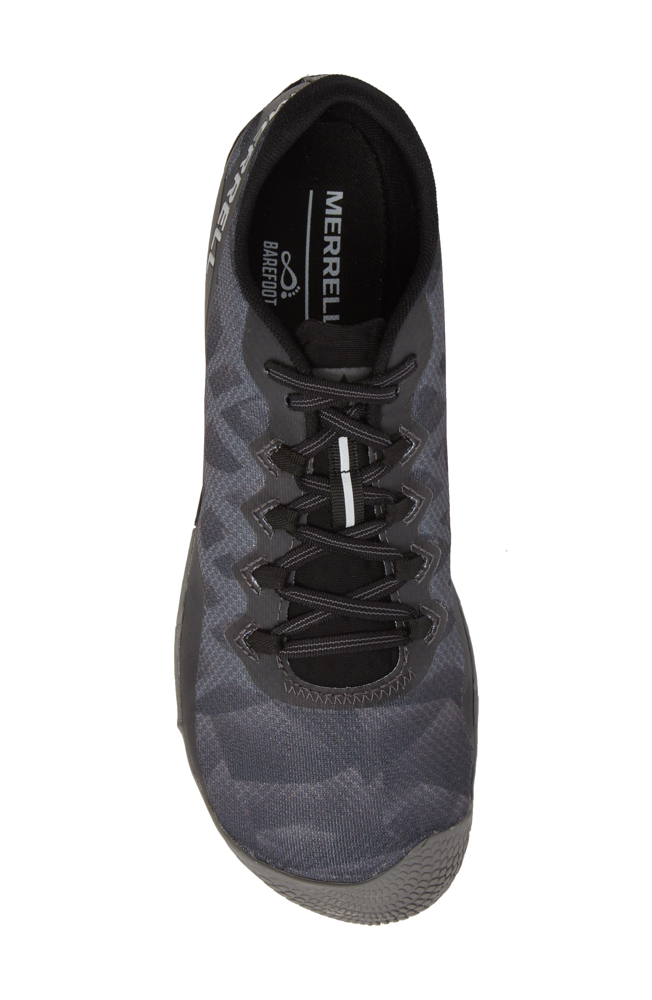 Vapor Glove 3 Trail Running Shoe,                             Alternate thumbnail 5, color,                             BLACK/ SILVER