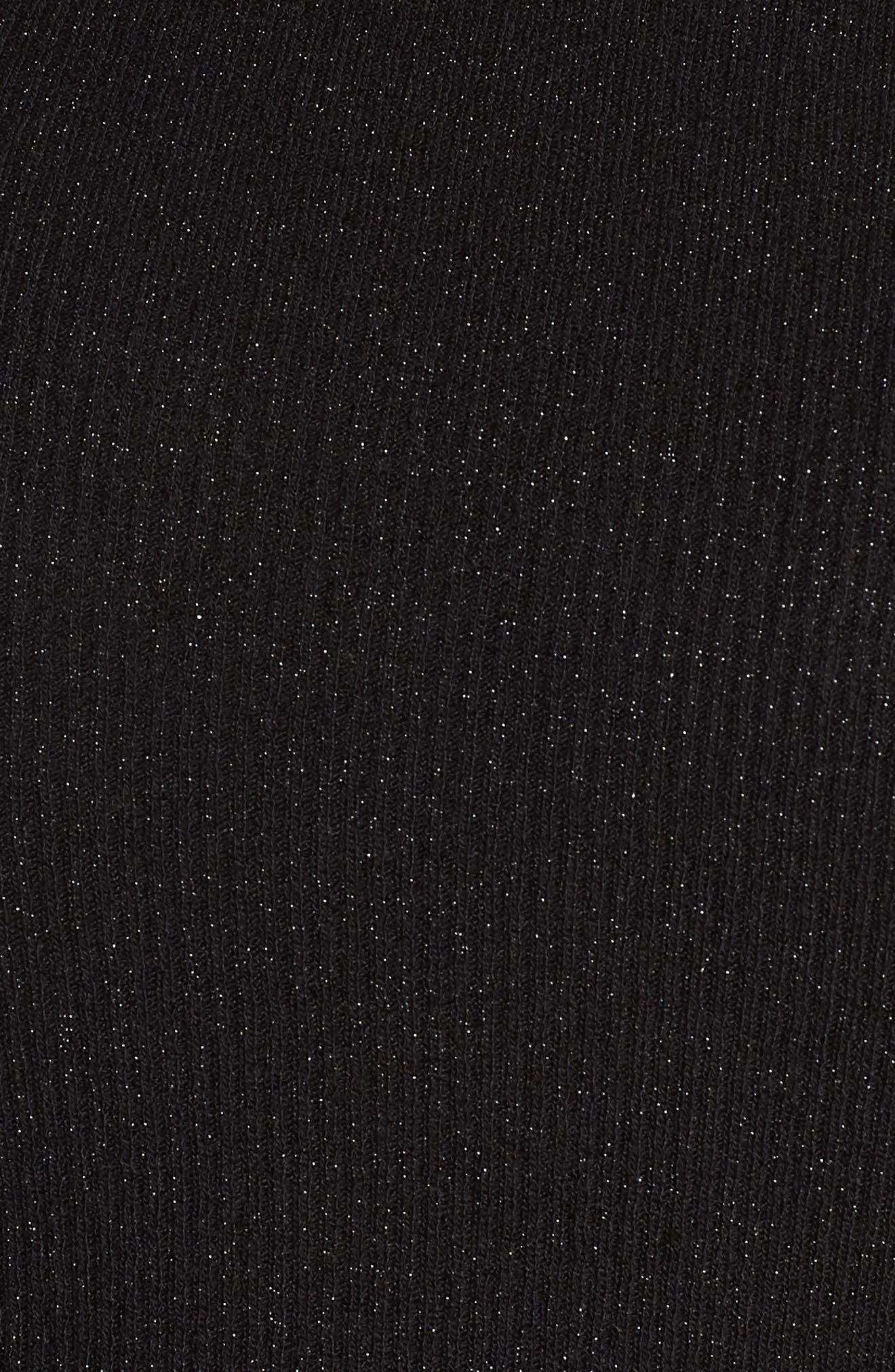 x Atlantic-Pacific Ribbed Shimmer Top,                             Alternate thumbnail 5, color,                             BLACK