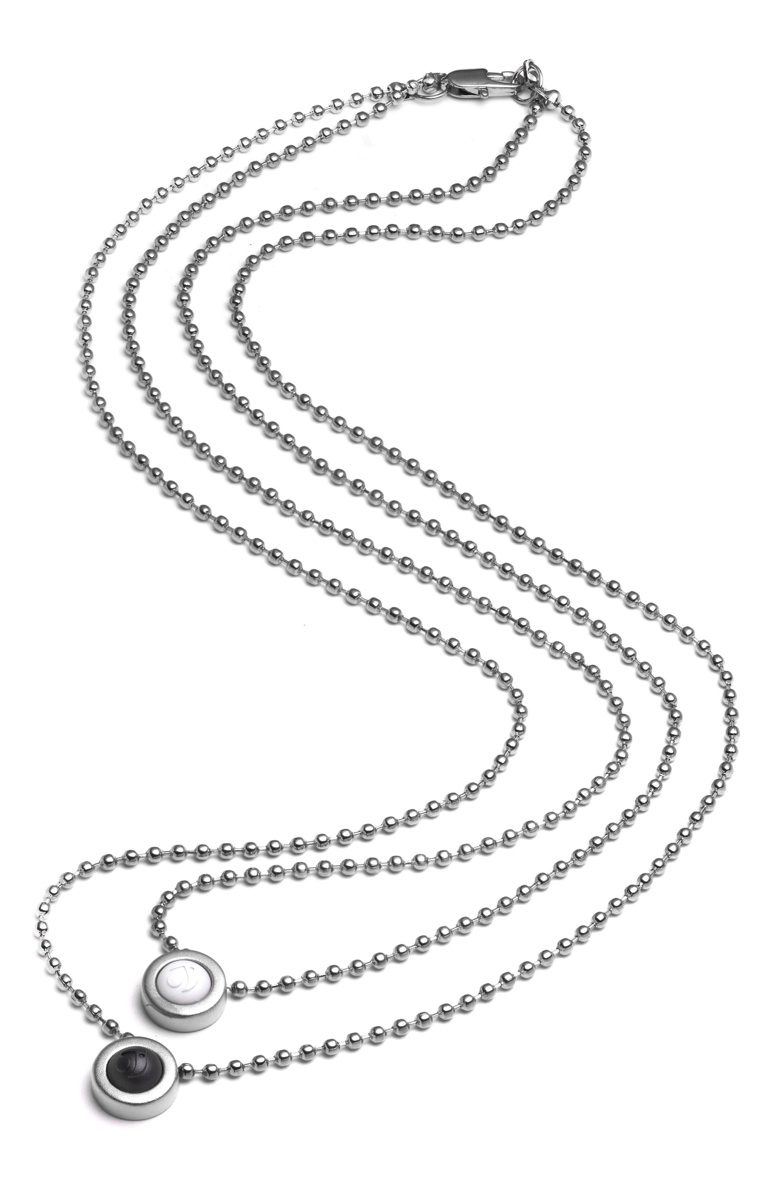 Double Ball Chain Pendant Necklace,                             Alternate thumbnail 7, color,