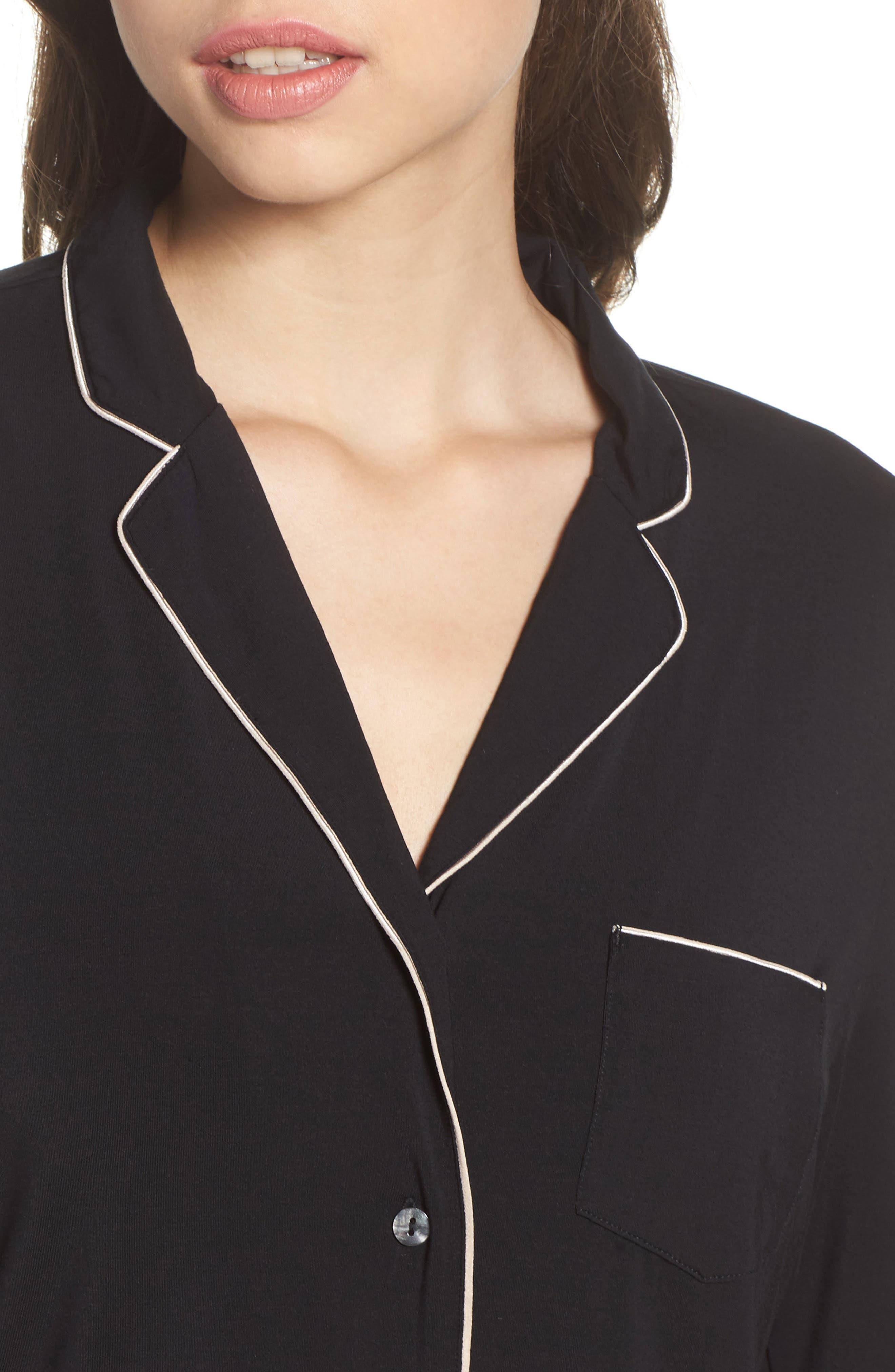 Modal Pajamas,                             Alternate thumbnail 4, color,                             BLACK