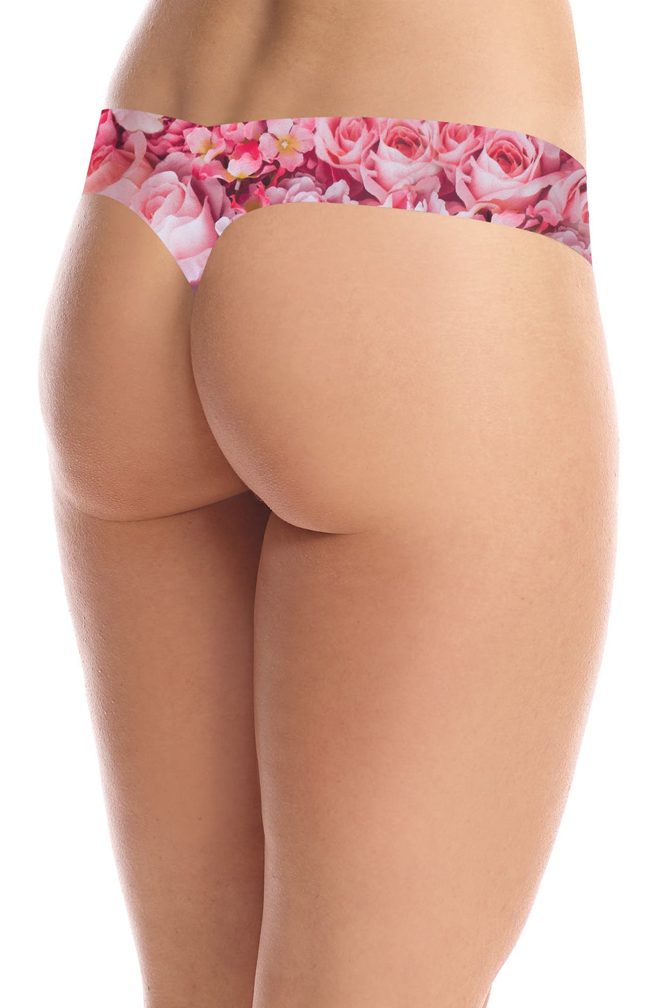 Print Microfiber Thong,                             Alternate thumbnail 125, color,