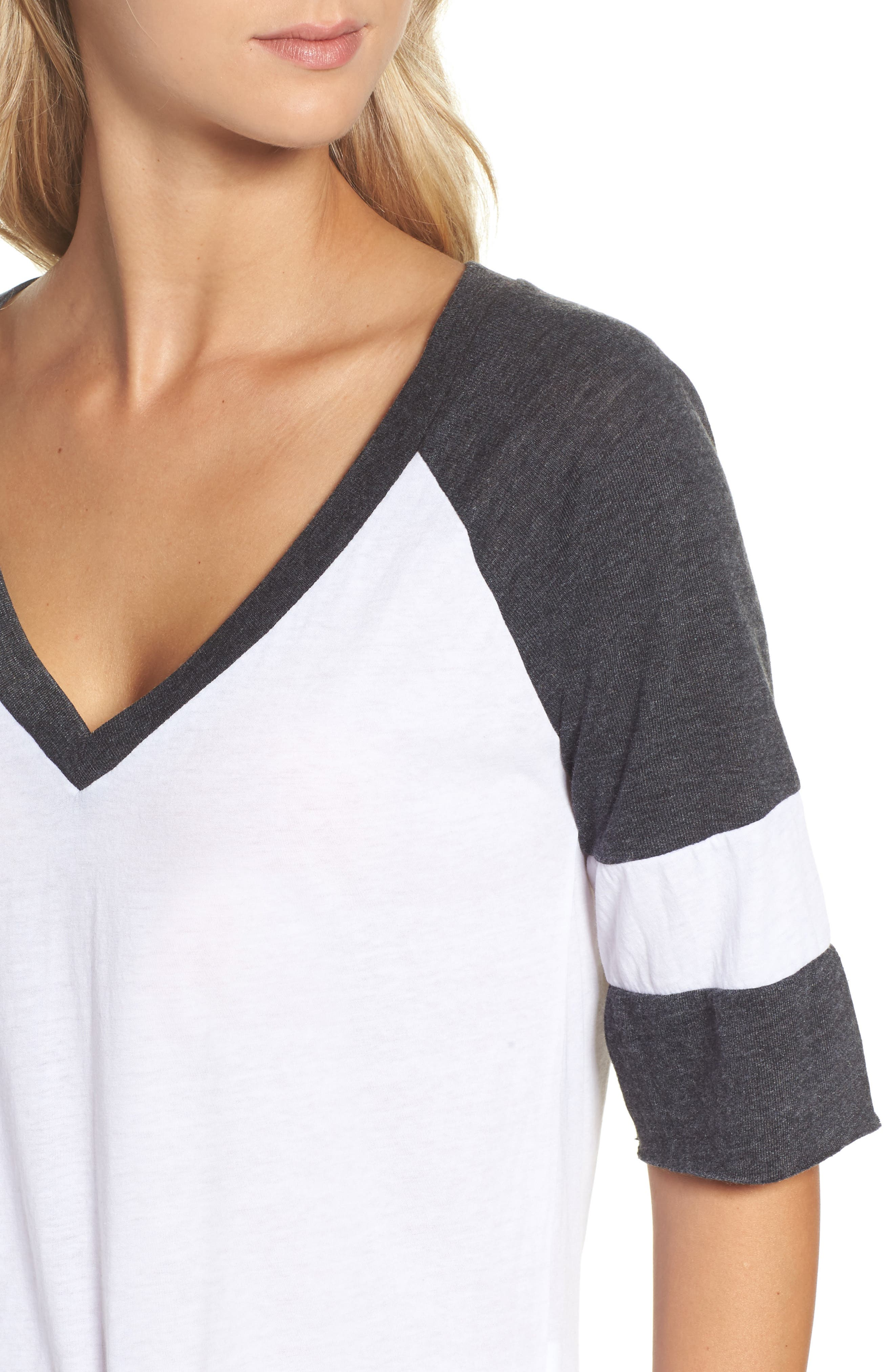 Colorblock Jersey Tee,                             Alternate thumbnail 4, color,                             100