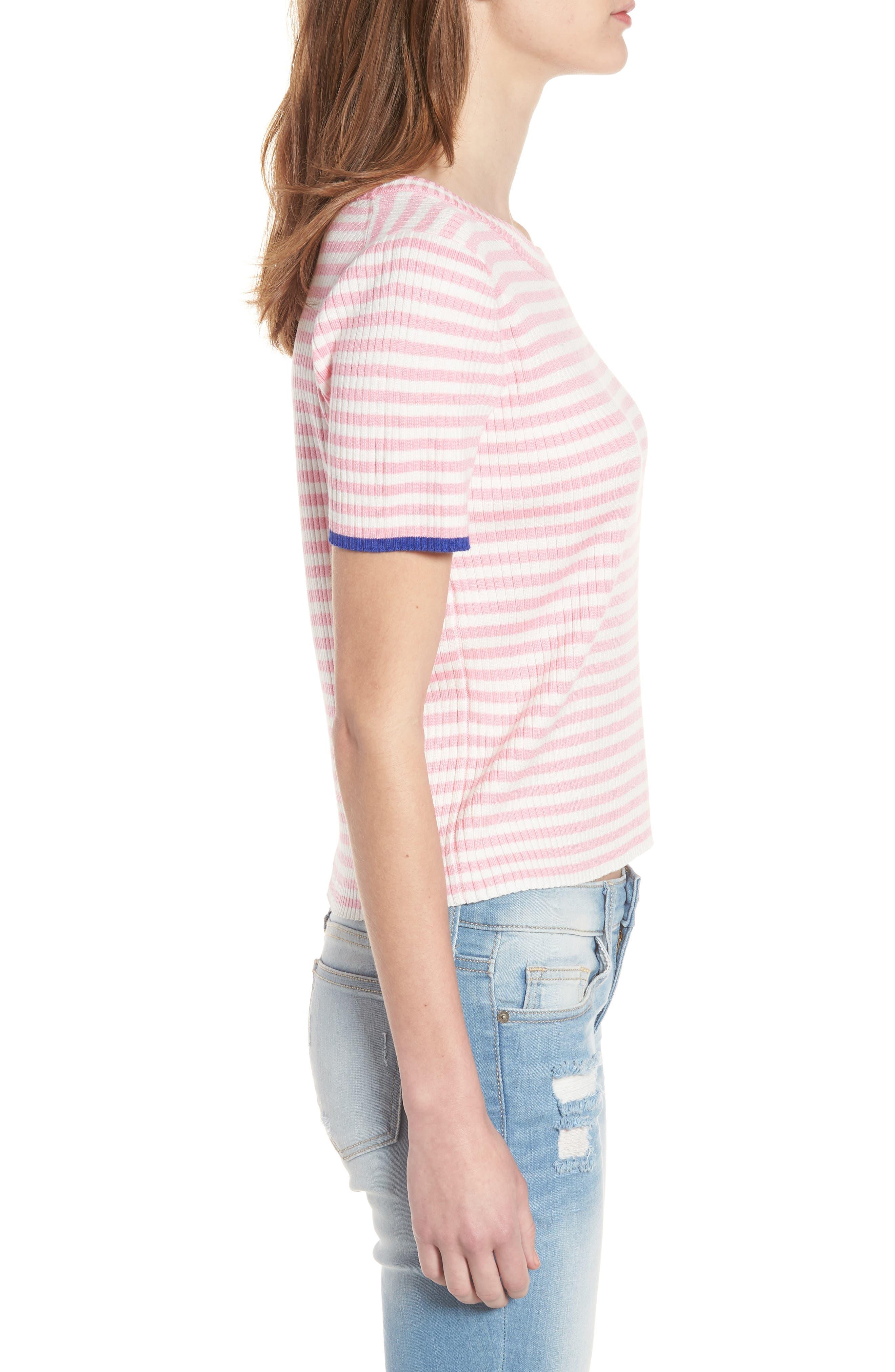 Stripe Knit Pullover,                             Alternate thumbnail 7, color,