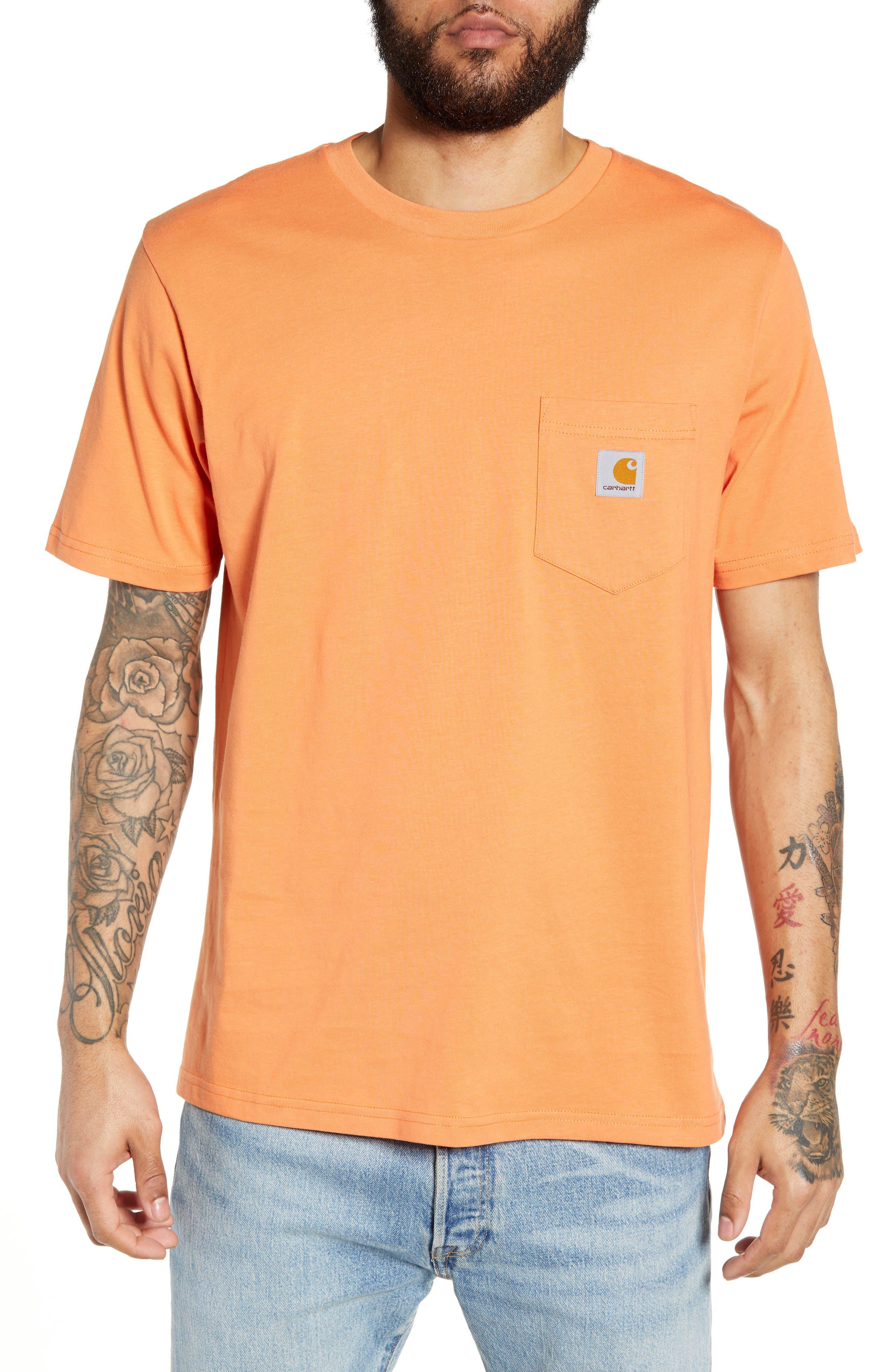 Carhartt Work In Progress Logo Pocket T-Shirt, Orange