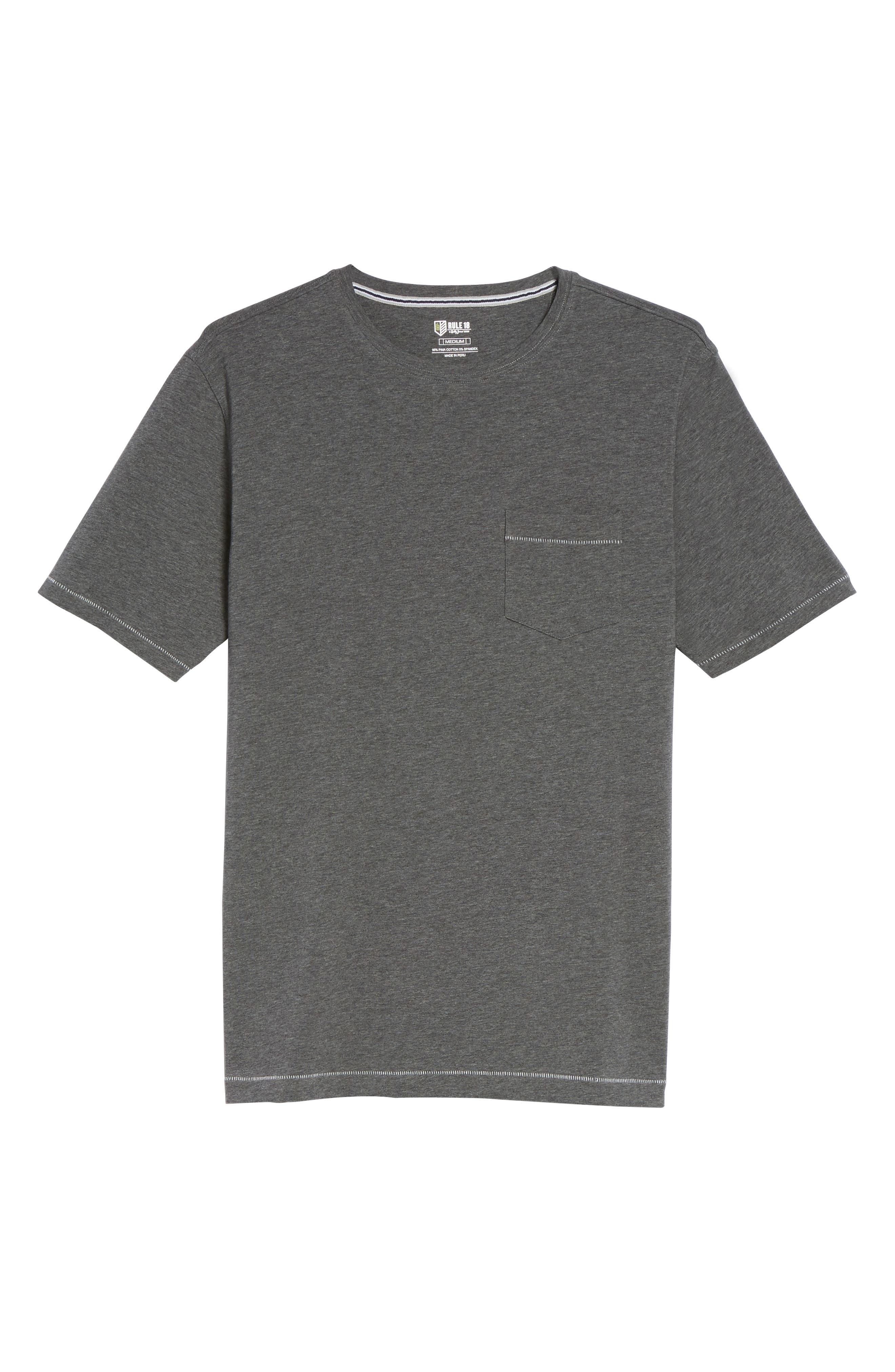 BOBBY JONES,                             R18 Pocket T-Shirt,                             Alternate thumbnail 6, color,                             011