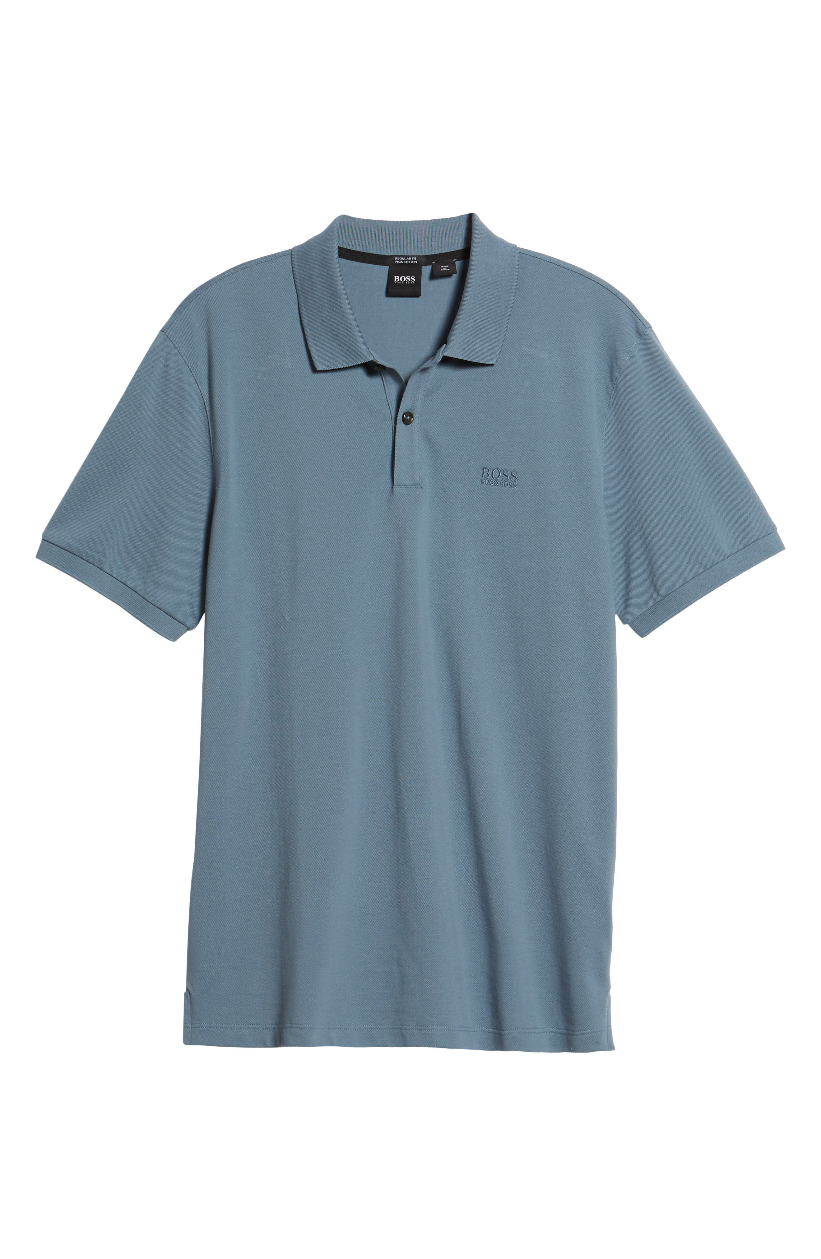 'Pallas' Regular Fit Logo Embroidered Polo Shirt,                             Alternate thumbnail 6, color,                             470