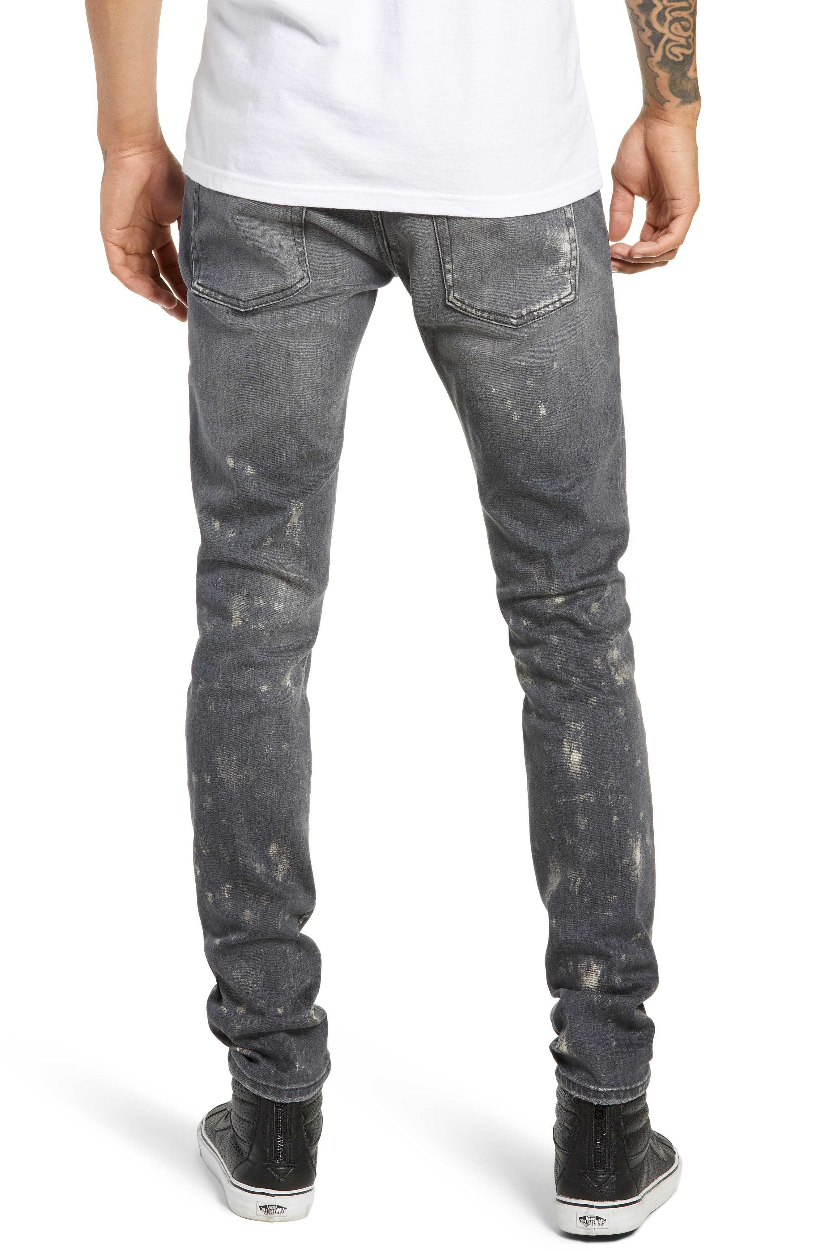 Destroyer Ripped Slim Fit Jeans,                             Alternate thumbnail 2, color,                             GREY STONE