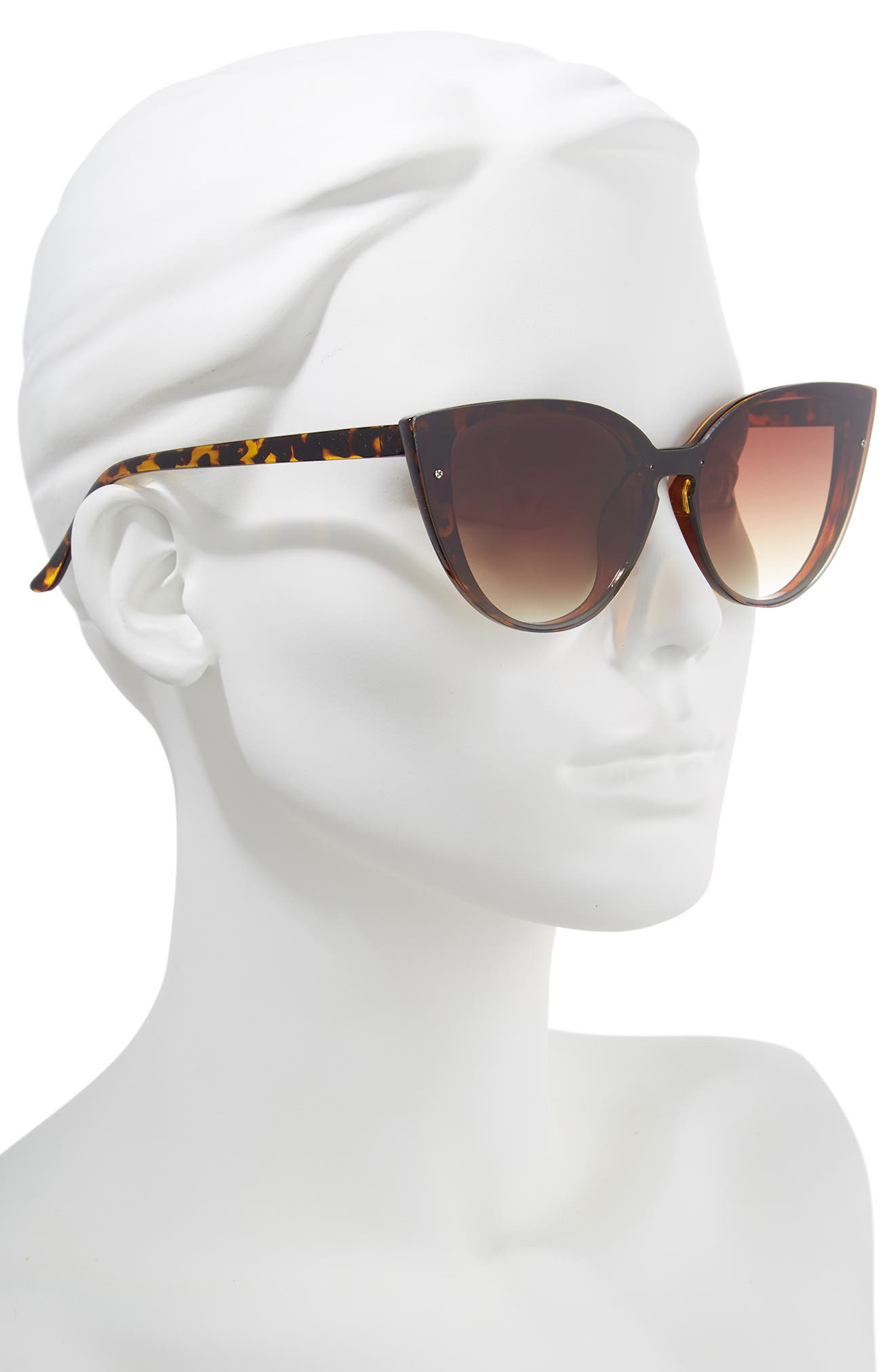 52mm Flat Cat Eye Sunglasses,                             Alternate thumbnail 2, color,                             200