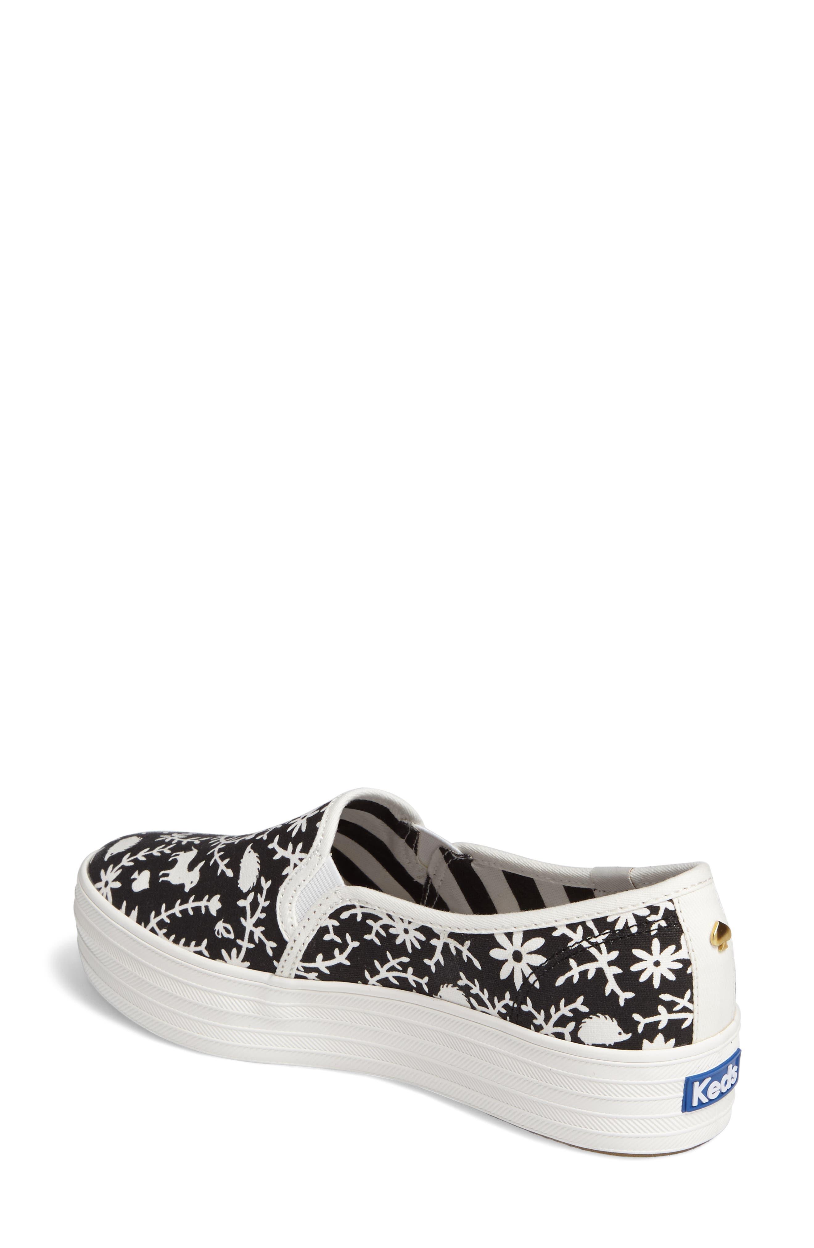 Keds<sup>®</sup> x kate spade Triple Decker Slip-On Sneaker,                             Alternate thumbnail 3, color,
