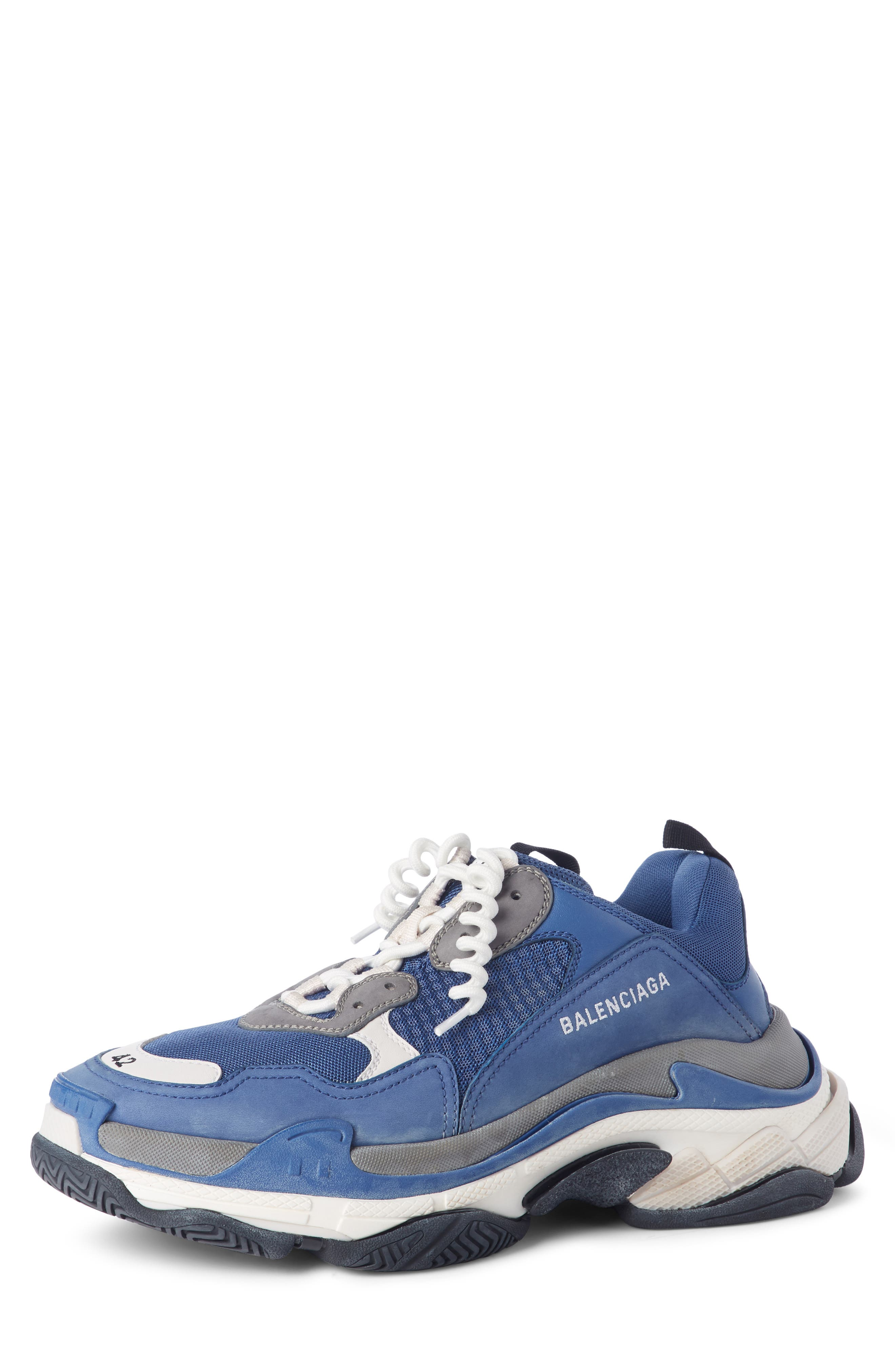 Triple S Retro Sneaker,                             Main thumbnail 1, color,                             NAVY