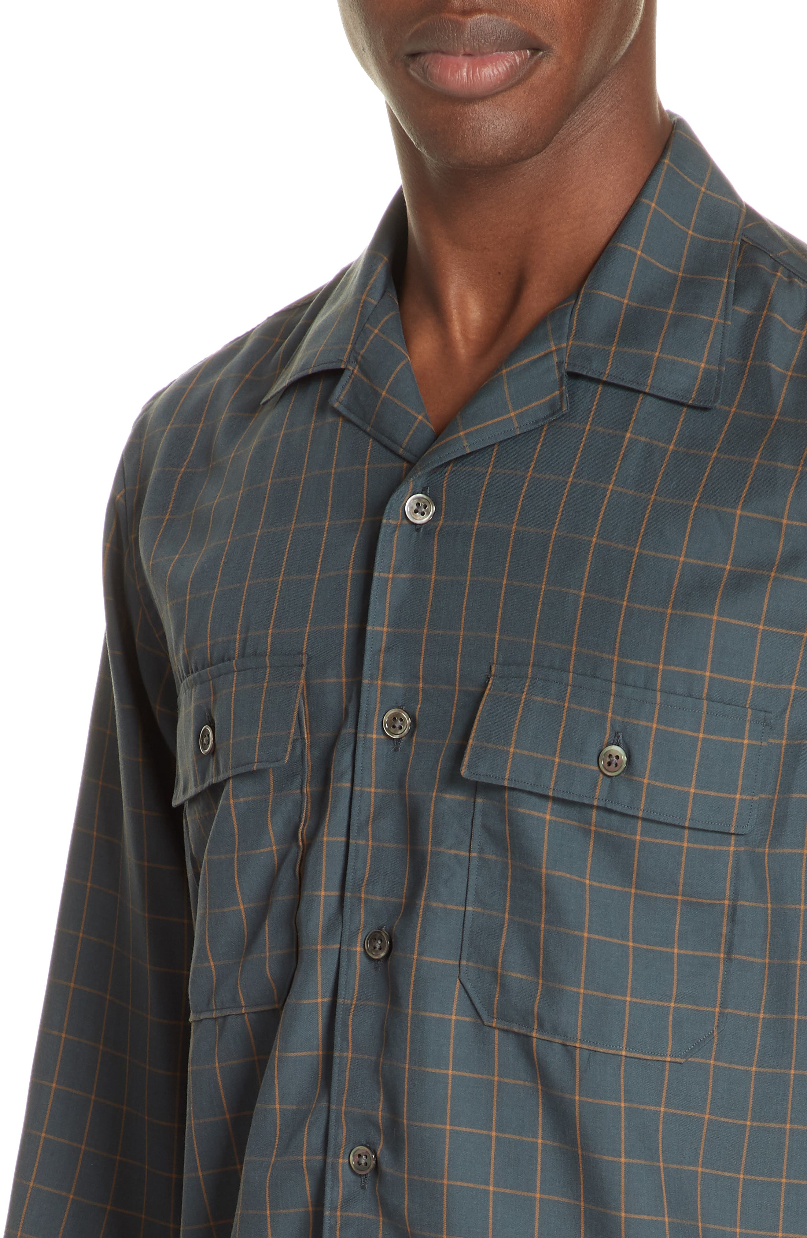 Slim Fit Woven Shirt,                             Alternate thumbnail 2, color,                             GREEN