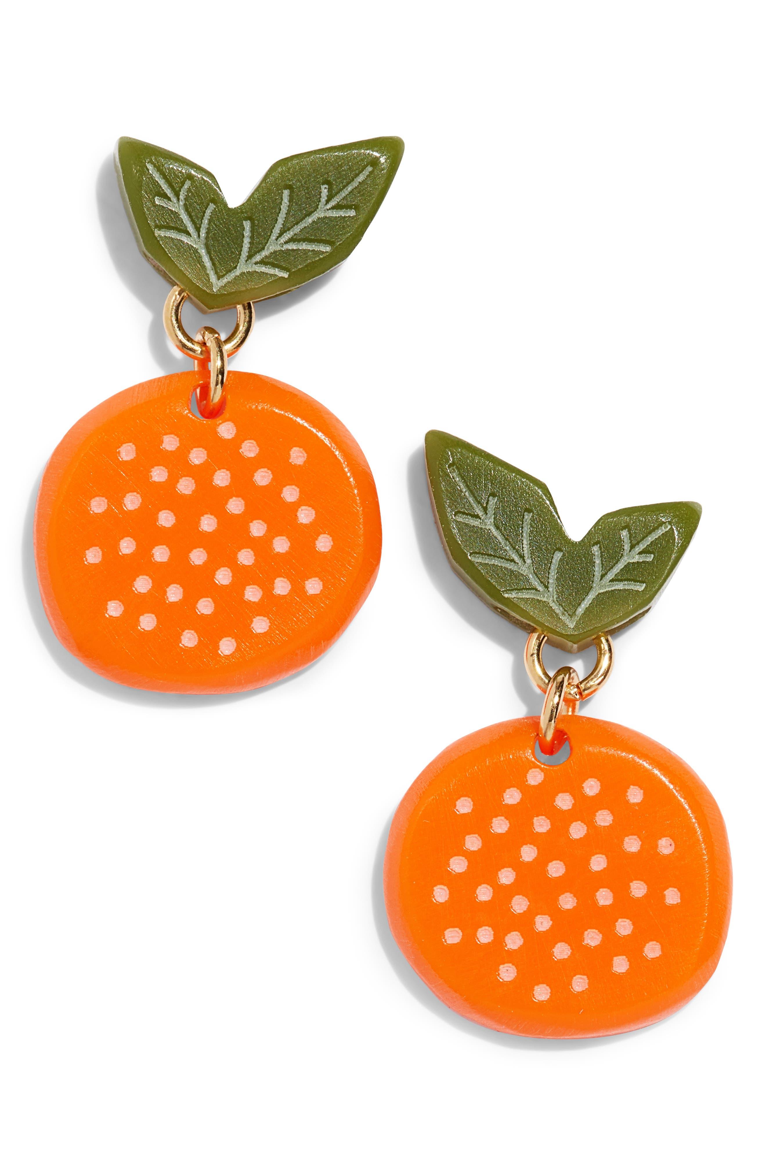 Orange Earrings,                         Main,                         color, ORANGE