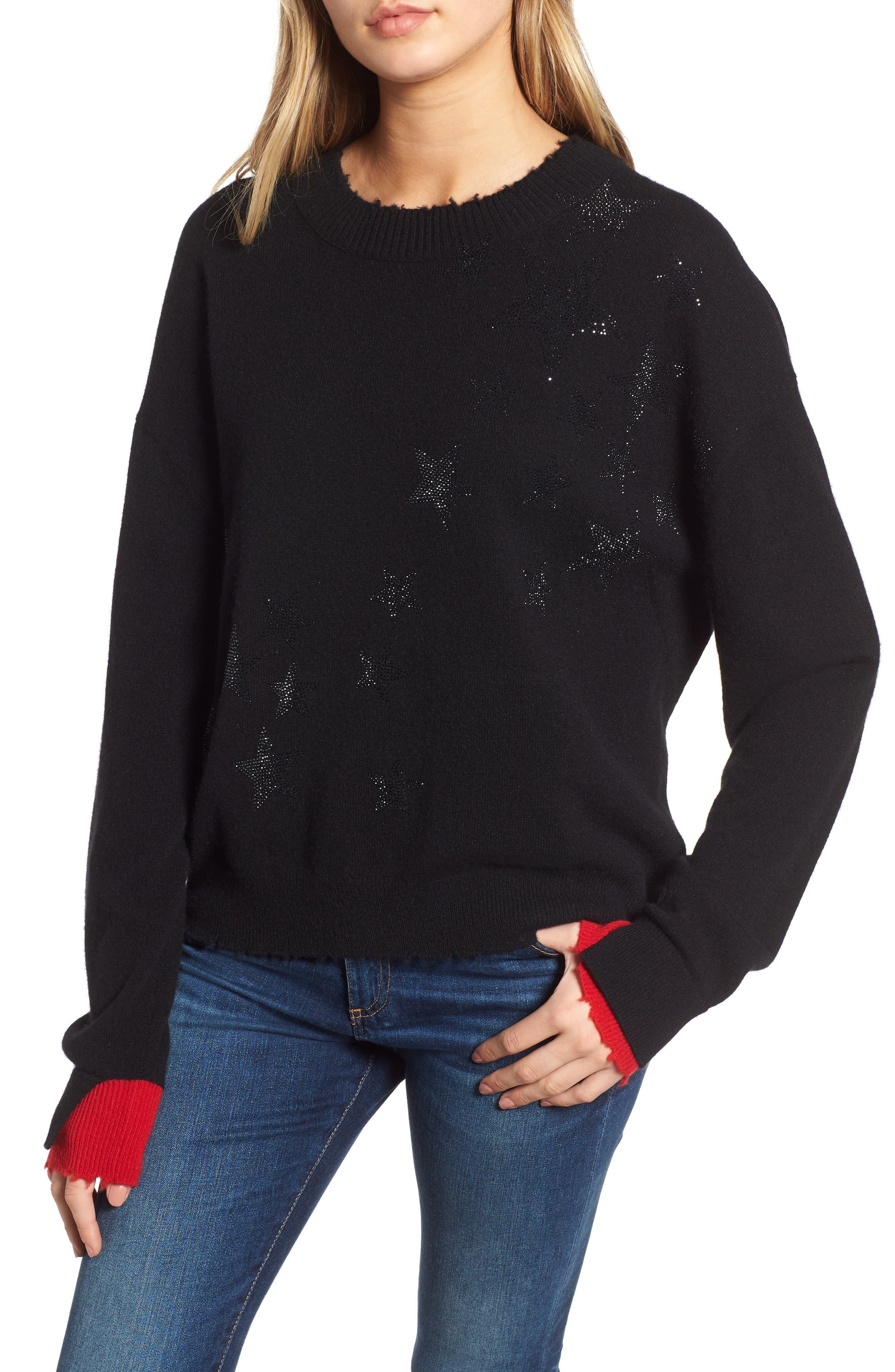 Gaby Cashmere Sweater,                         Main,                         color, NOIR