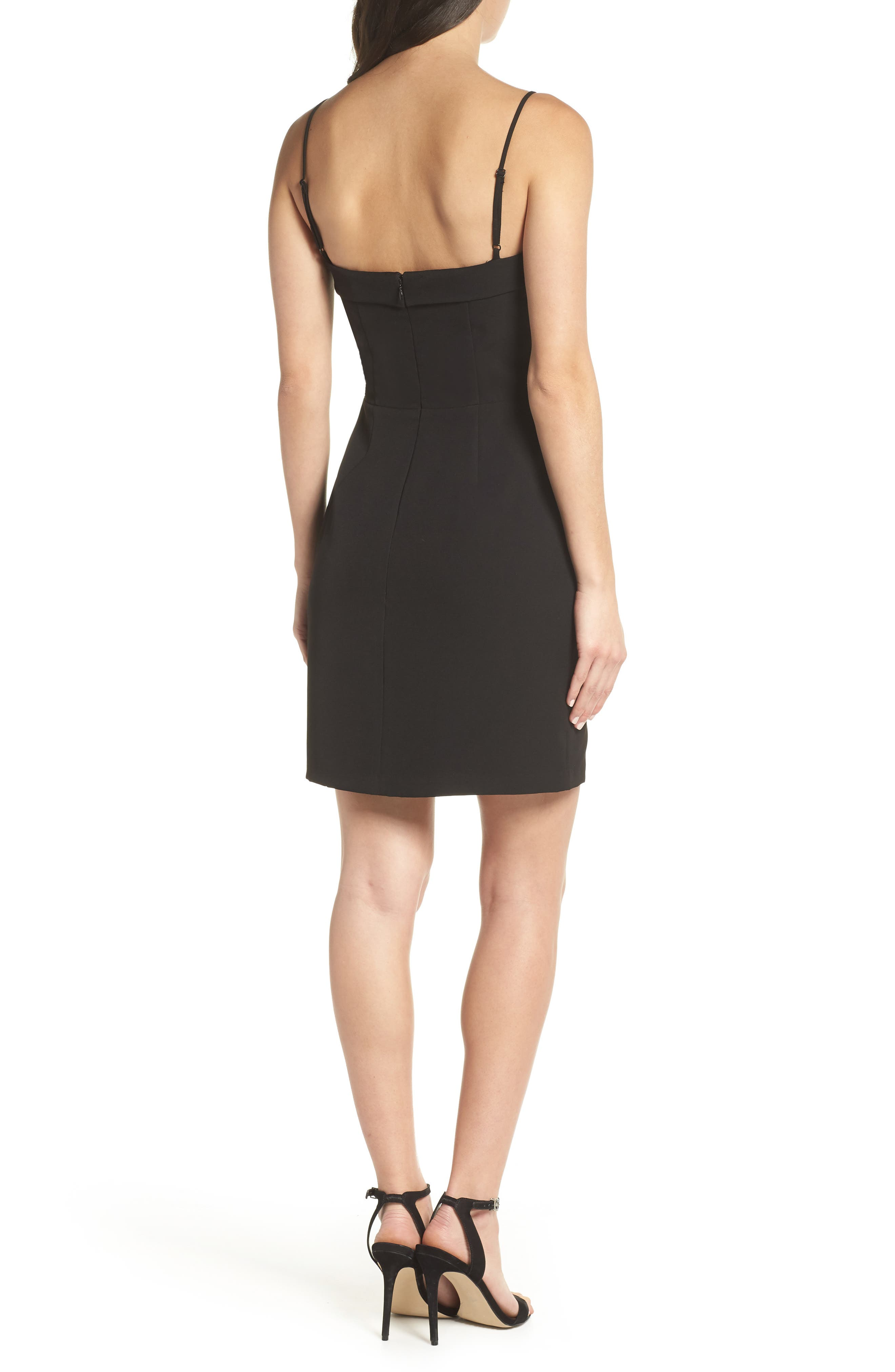 Fitted Corset Sheath Dress,                             Alternate thumbnail 2, color,                             001