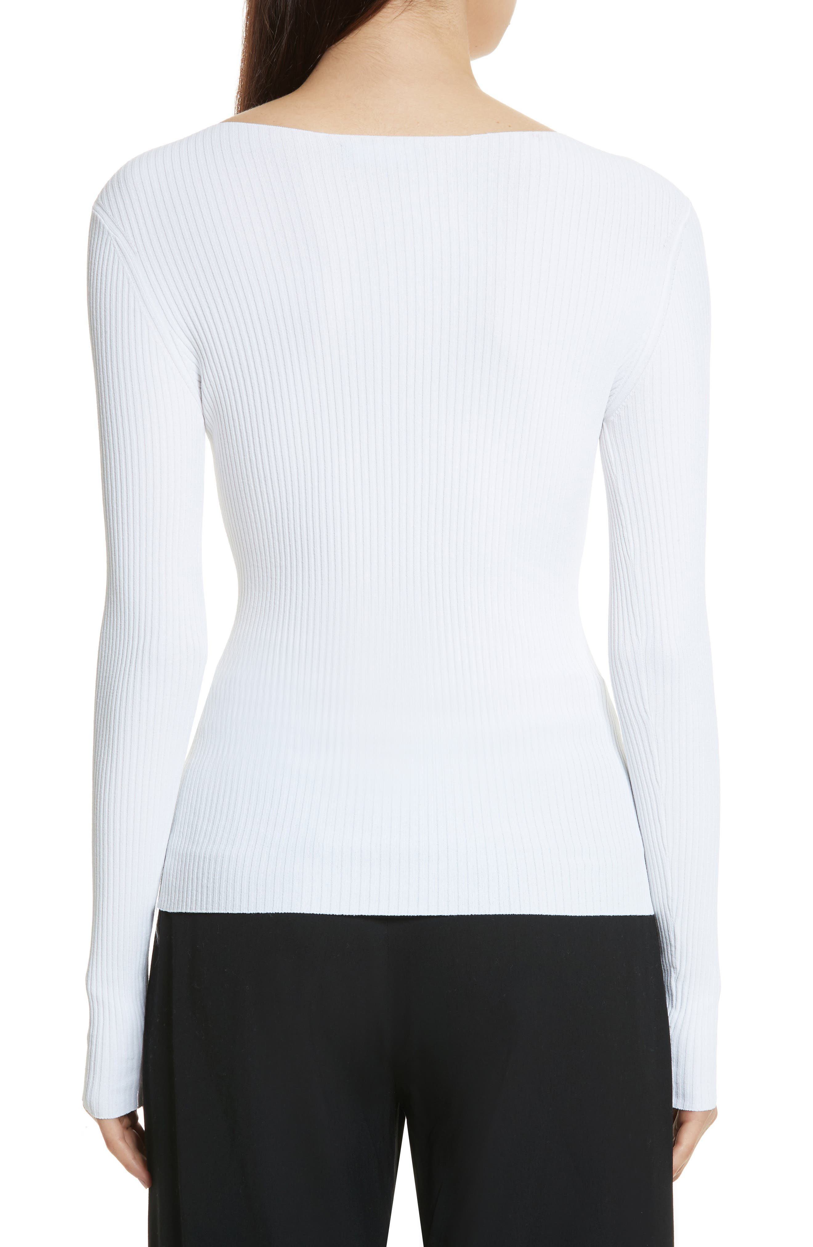Boat Neck Ribbed Top,                             Alternate thumbnail 4, color,