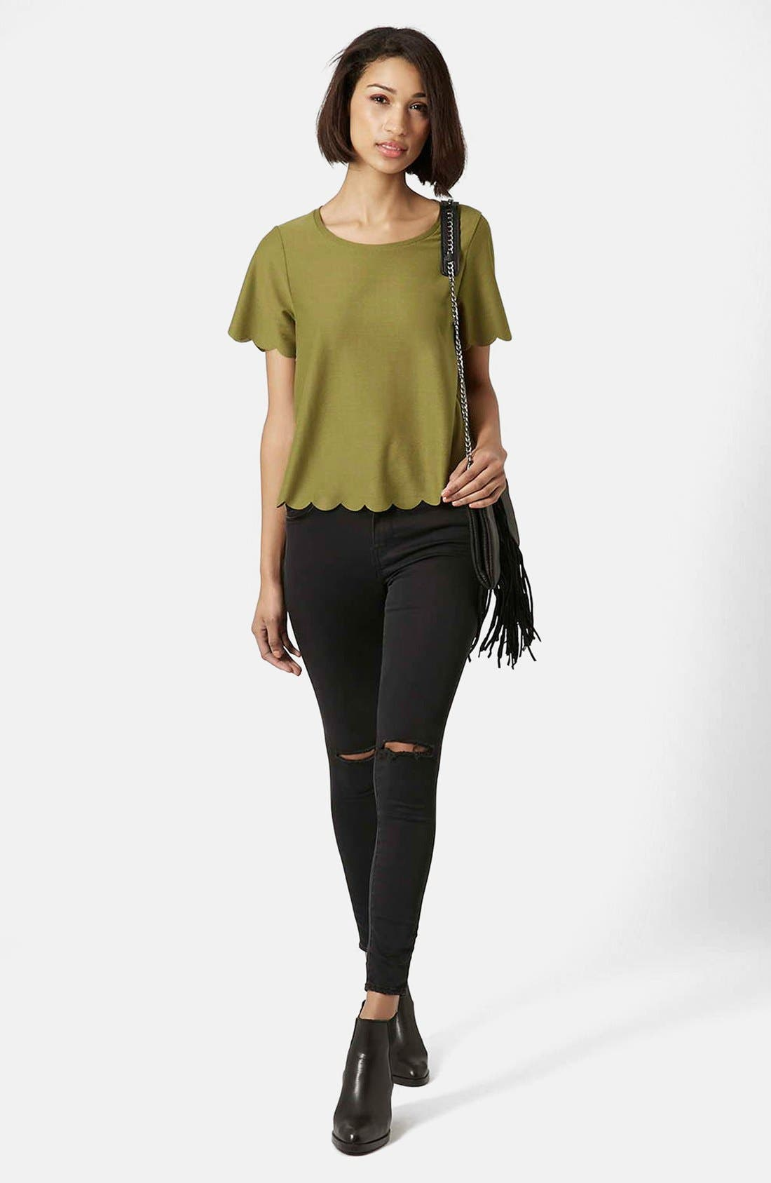 Scallop Frill Tee,                             Alternate thumbnail 26, color,