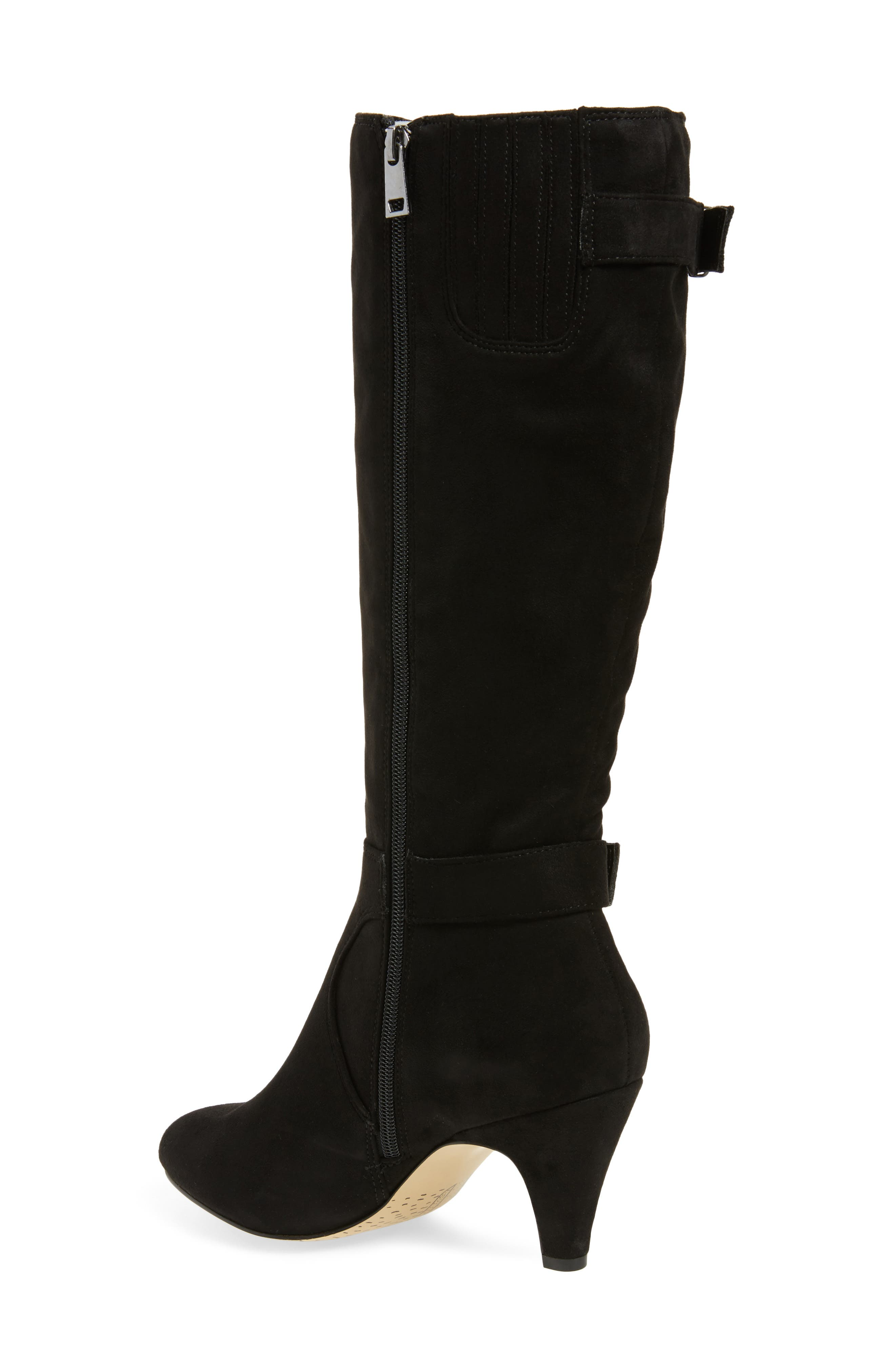 Toni II Knee High Boot,                             Alternate thumbnail 2, color,                             BLACK SUEDE