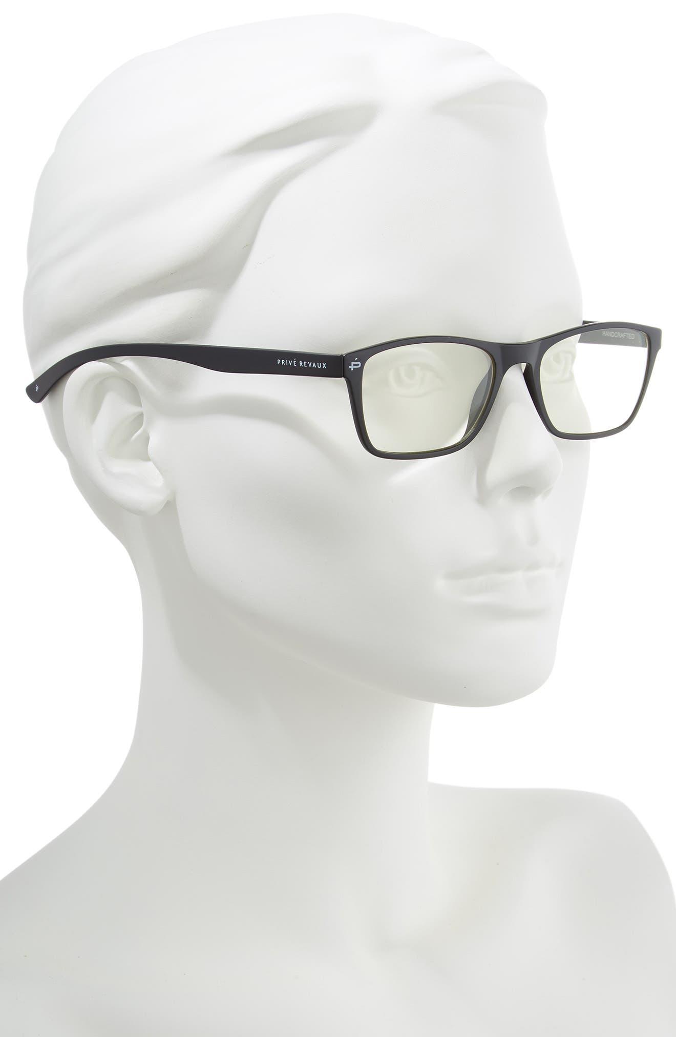 PRIVÉ REVAUX,                             The Socrates 51mm Blue Light Blocking Glasses,                             Alternate thumbnail 2, color,                             001