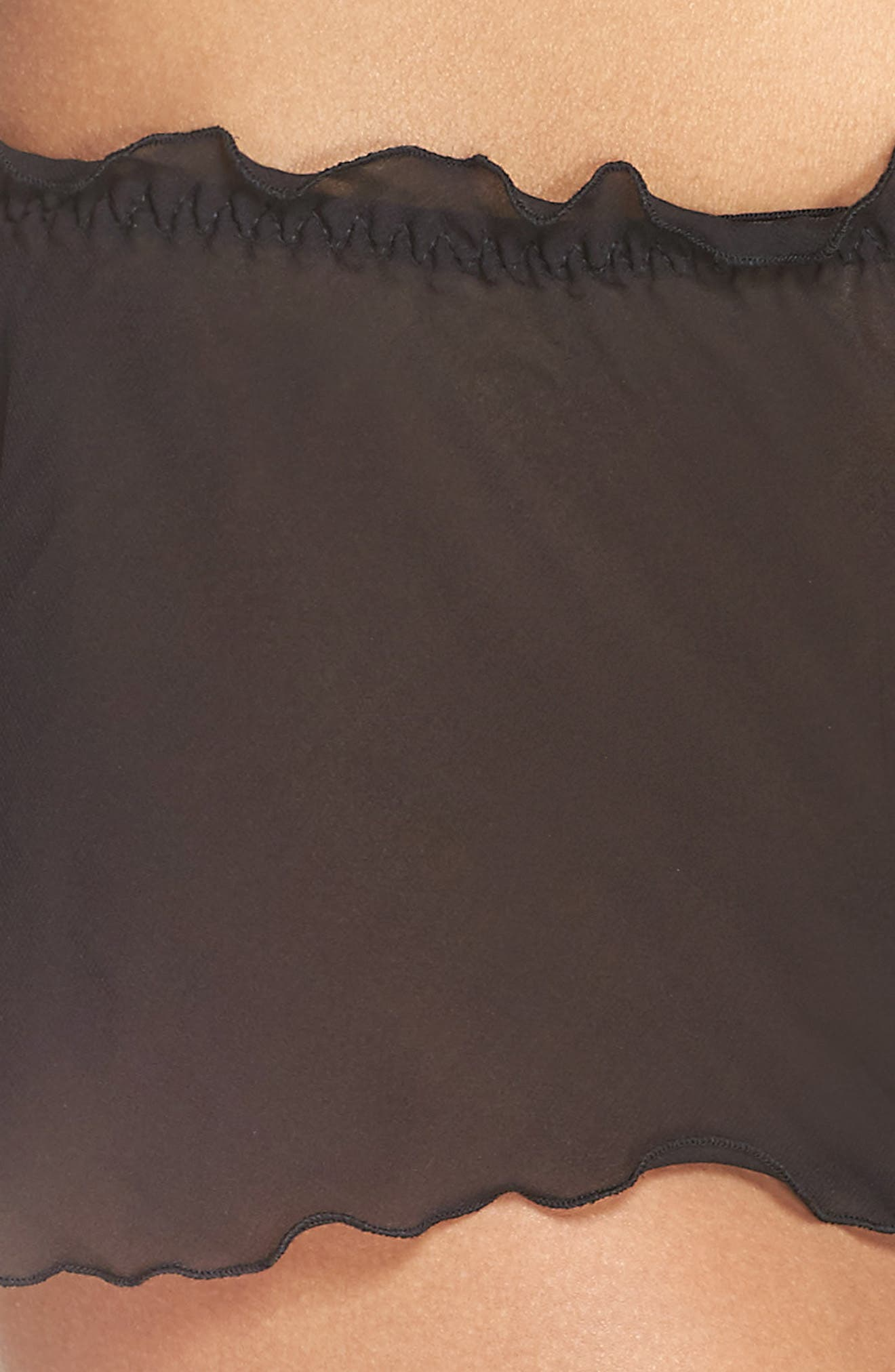 Chiffon Tap Shorts,                             Alternate thumbnail 4, color,                             001