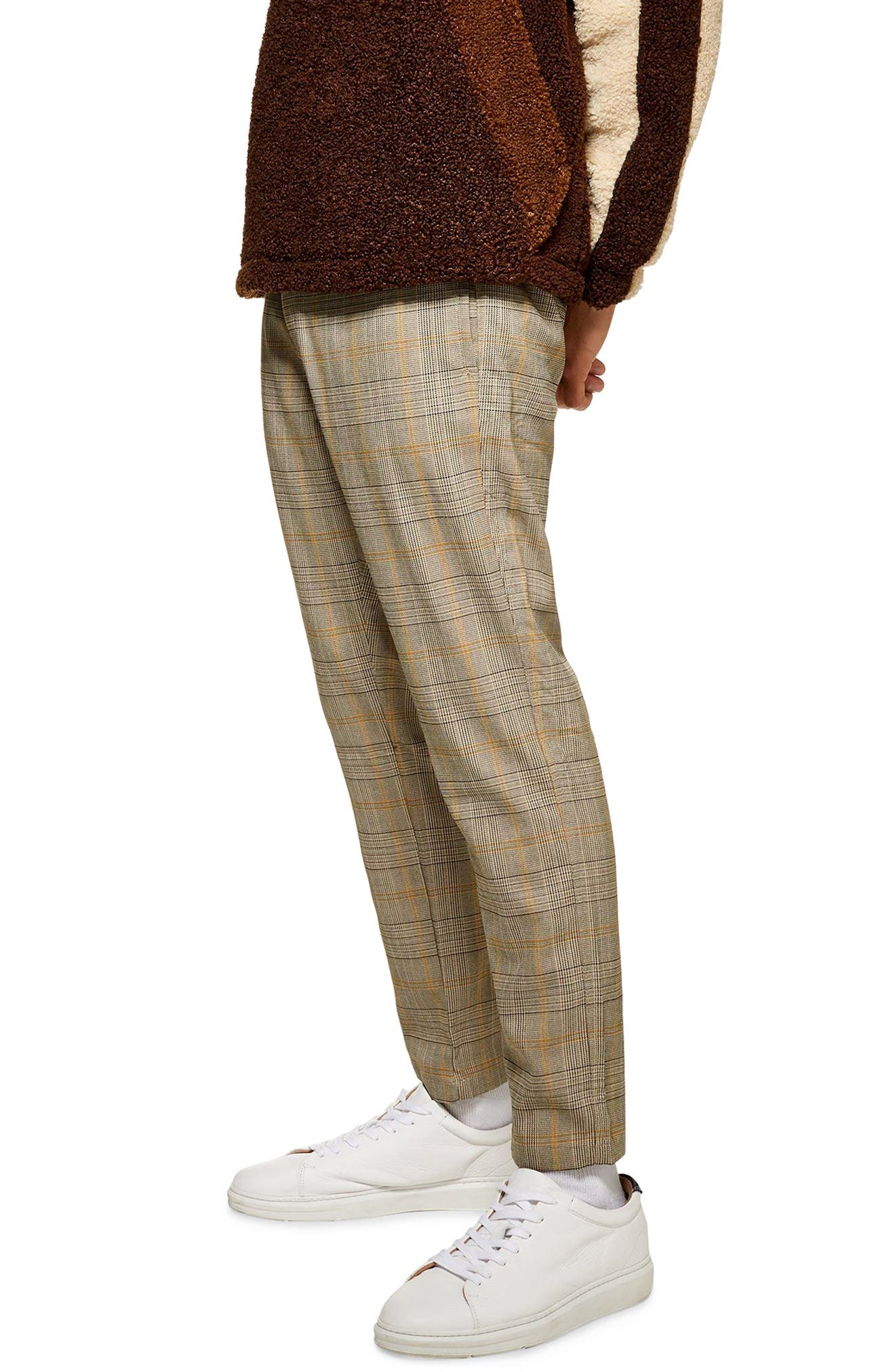 Heritage Check Jogger Pants,                         Main,                         color, BEIGE MULTI