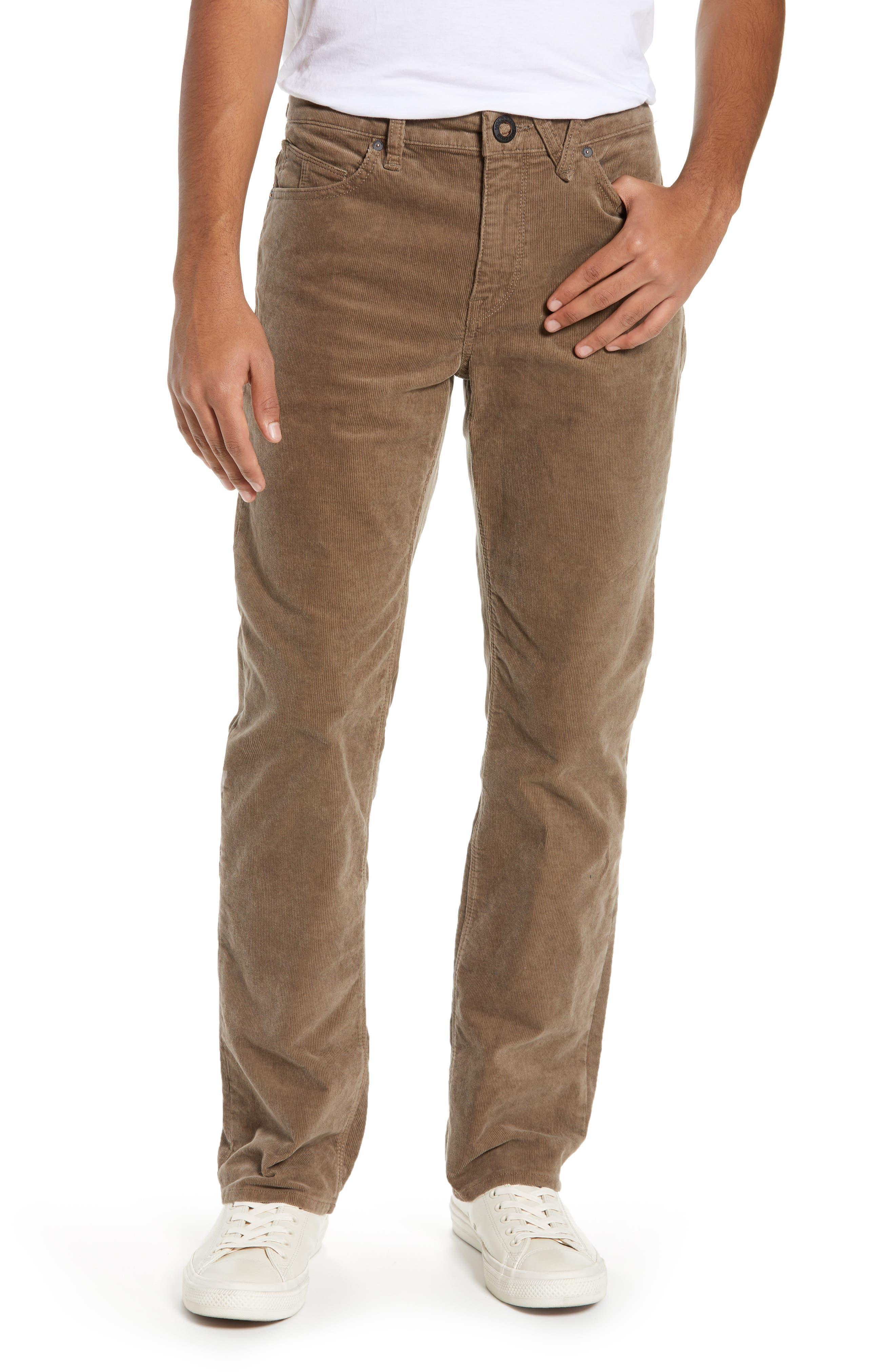 Solver Straight Leg Corduroy Pants, Main, color, MUSHROOM