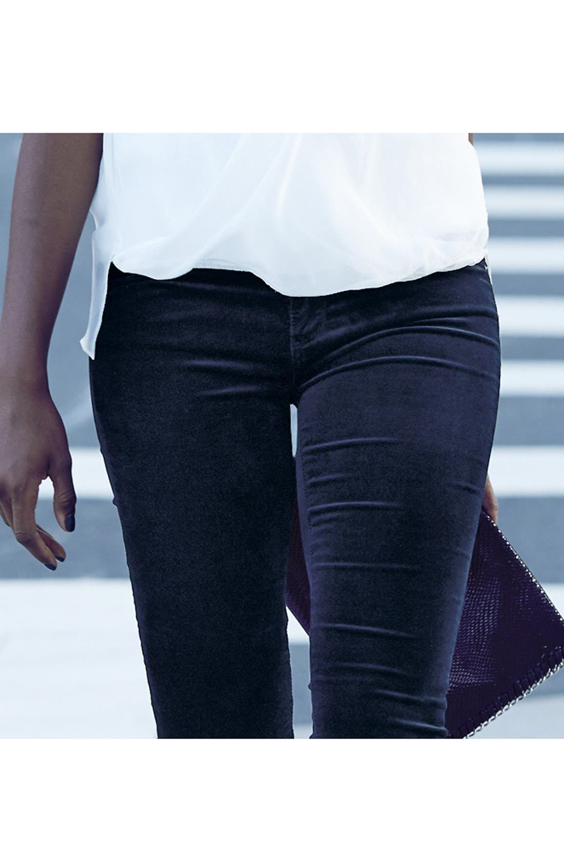 Super Skinny Velvet Leggings,                             Alternate thumbnail 7, color,                             396