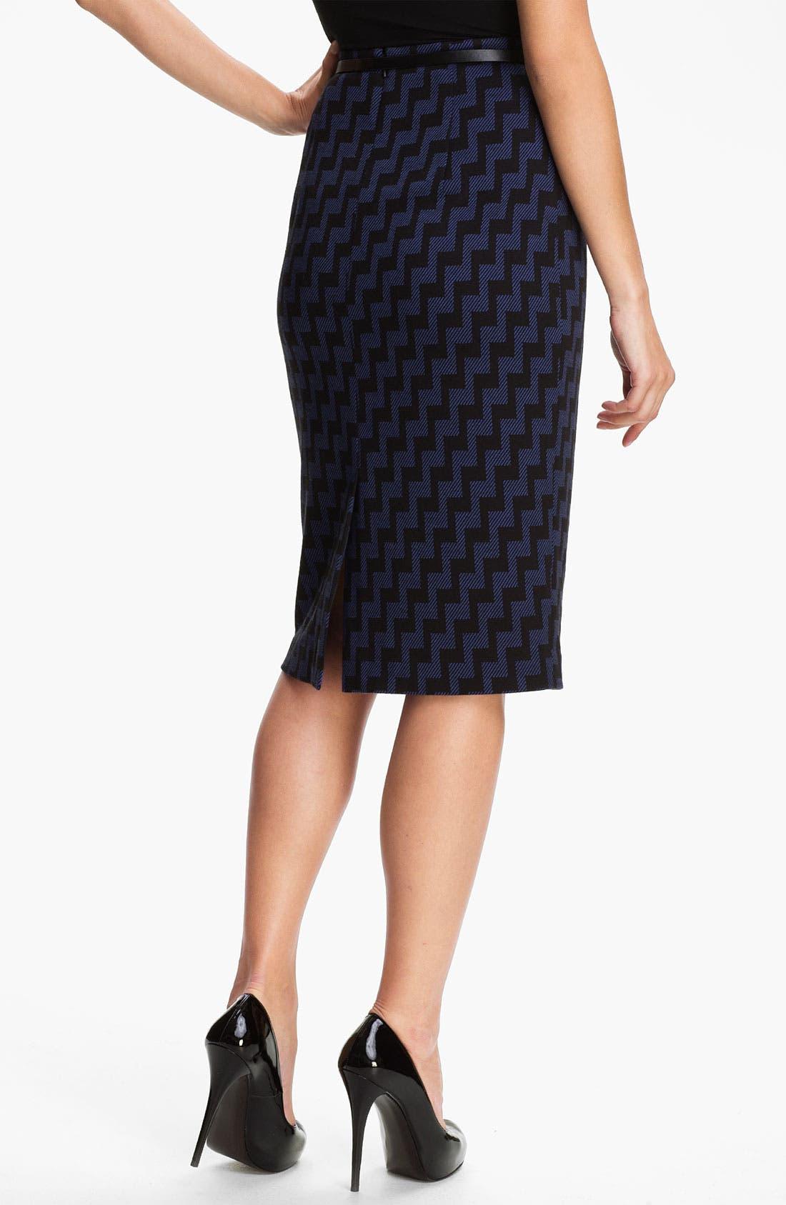 Belted Ponte Skirt,                             Alternate thumbnail 22, color,