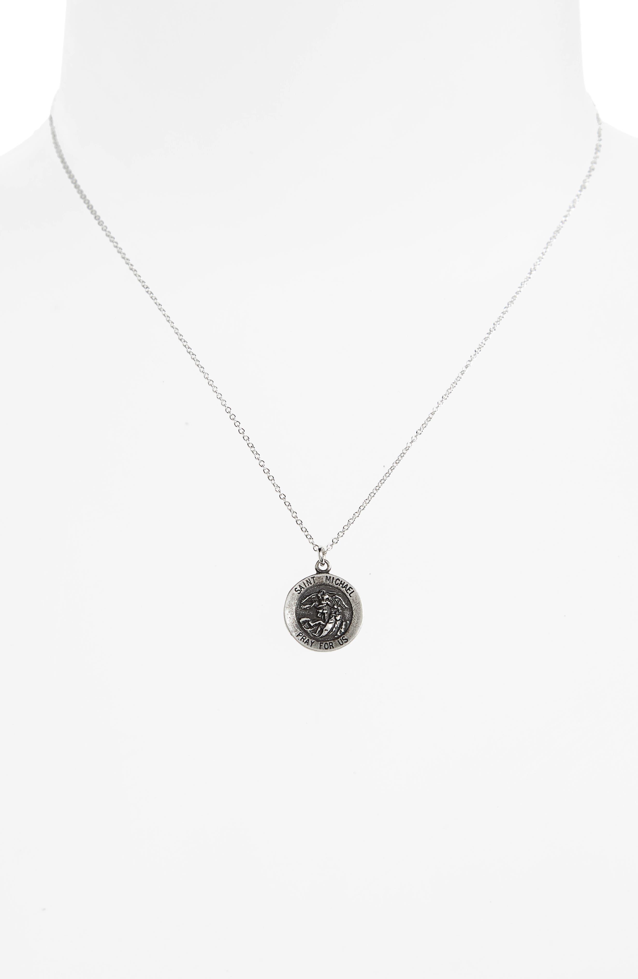 Saint Michael Pendant Necklace,                             Alternate thumbnail 3, color,                             042