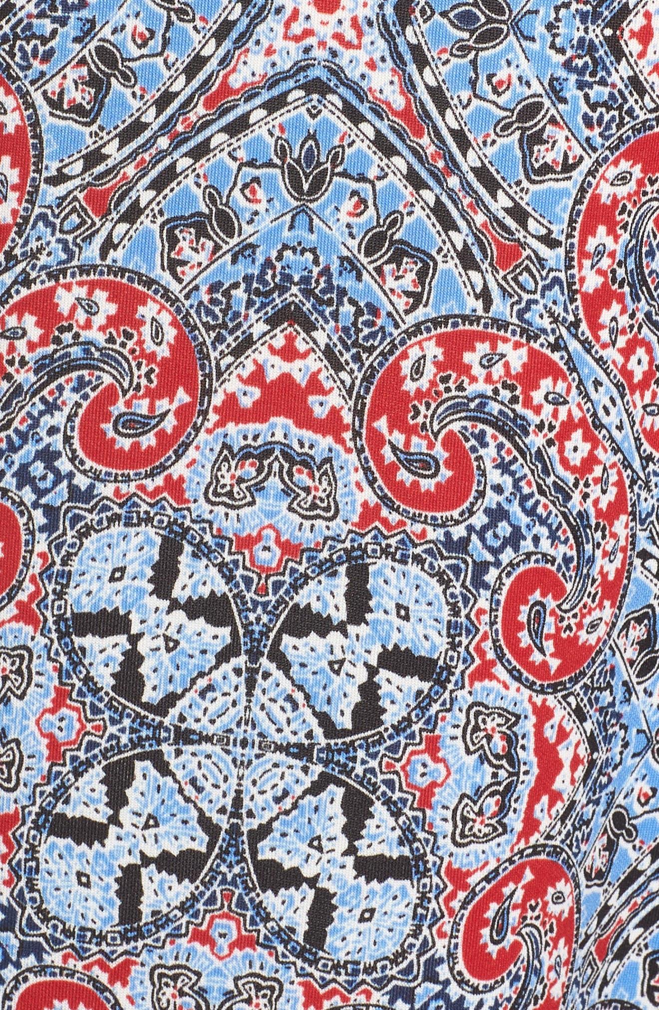 Print Scuba Fit & Flare Dress,                             Alternate thumbnail 6, color,                             400