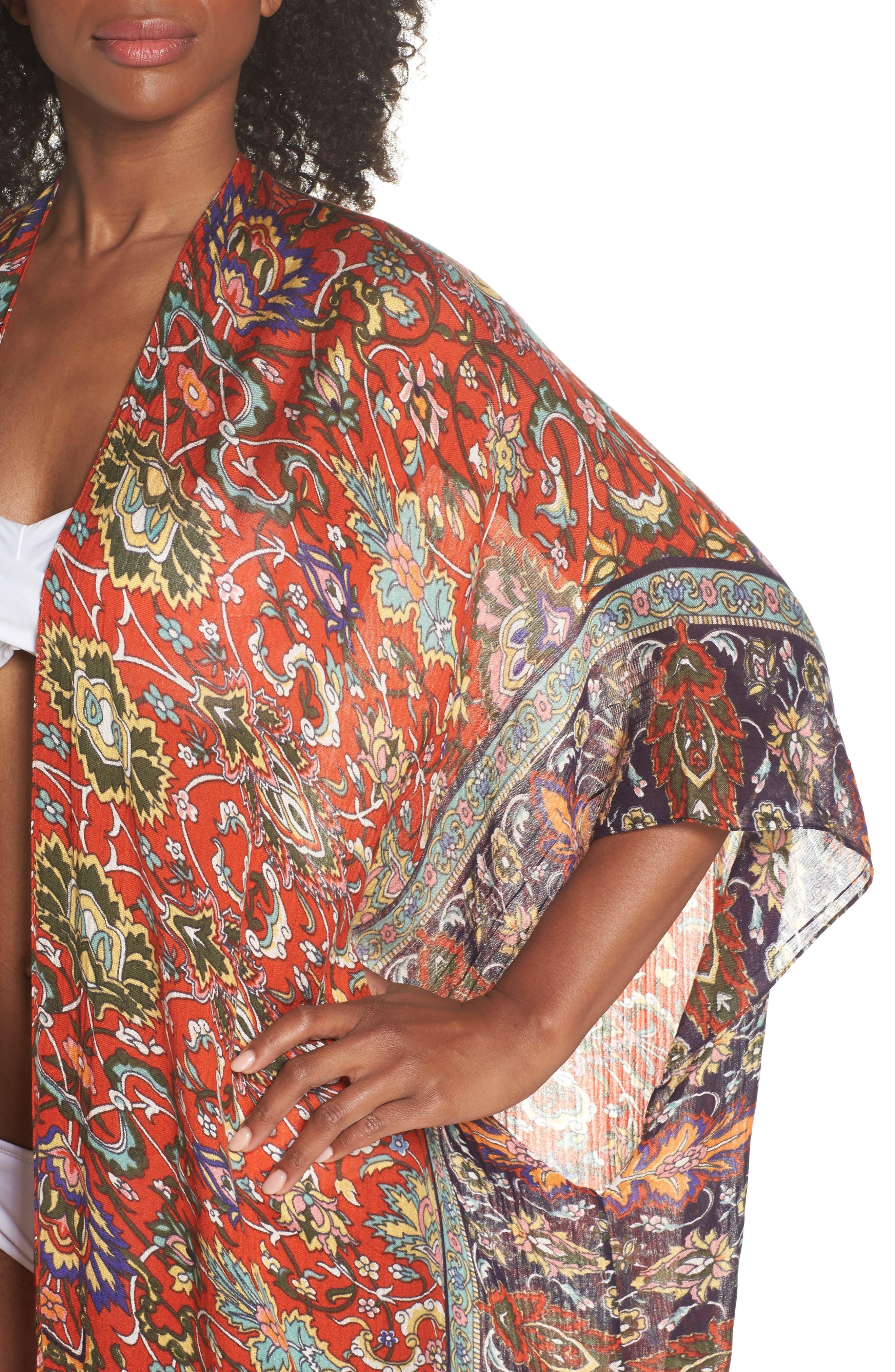 Cover-Up Kimono,                             Alternate thumbnail 4, color,