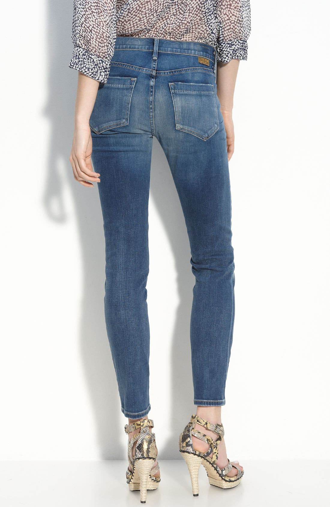'Frontier' Crop Skinny Stretch Jeans,                             Alternate thumbnail 2, color,                             424