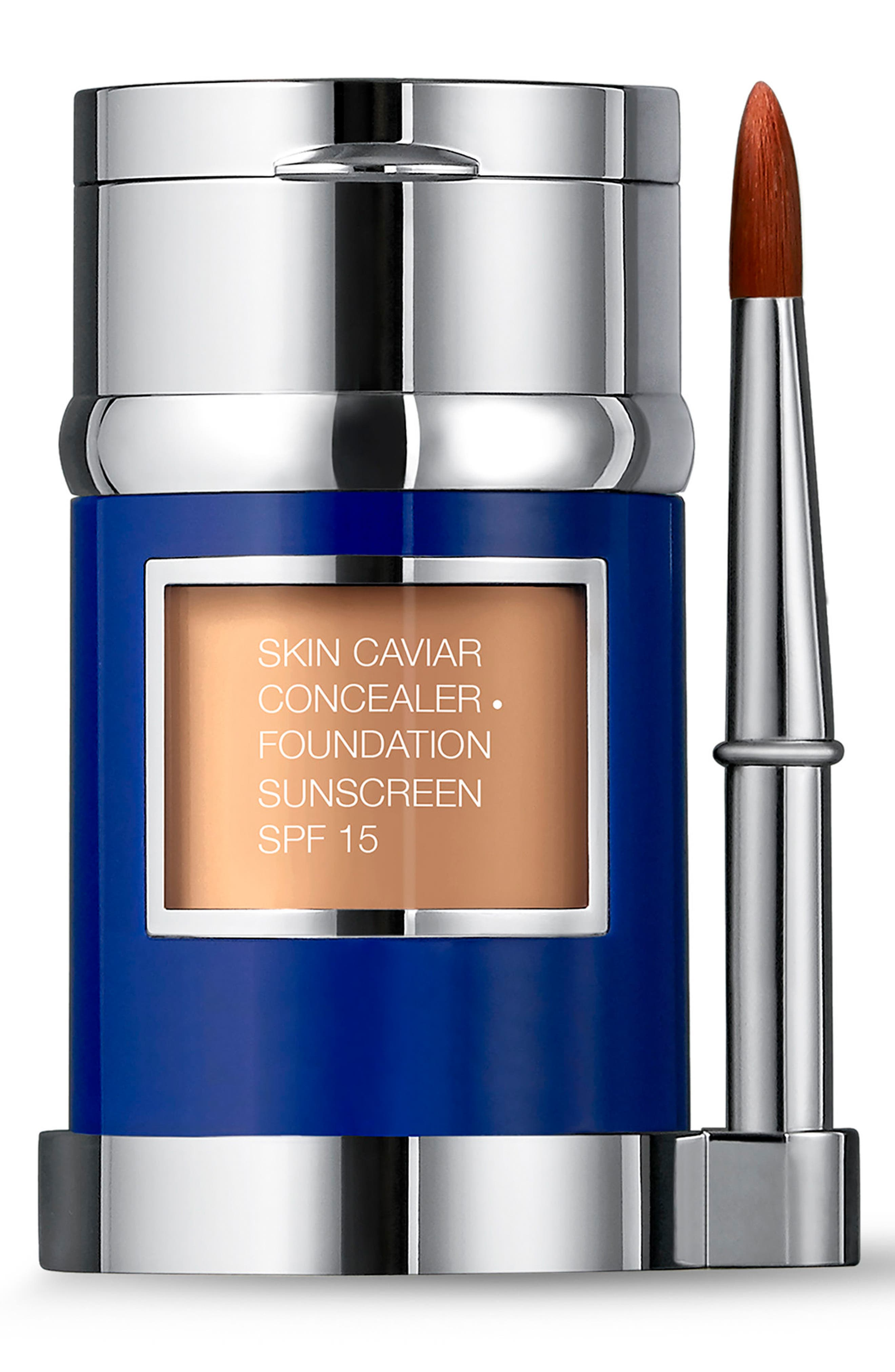 Skin Caviar Concealer + Foundation Sunscreen SPF 15,                             Alternate thumbnail 2, color,                             WARM BEIGE