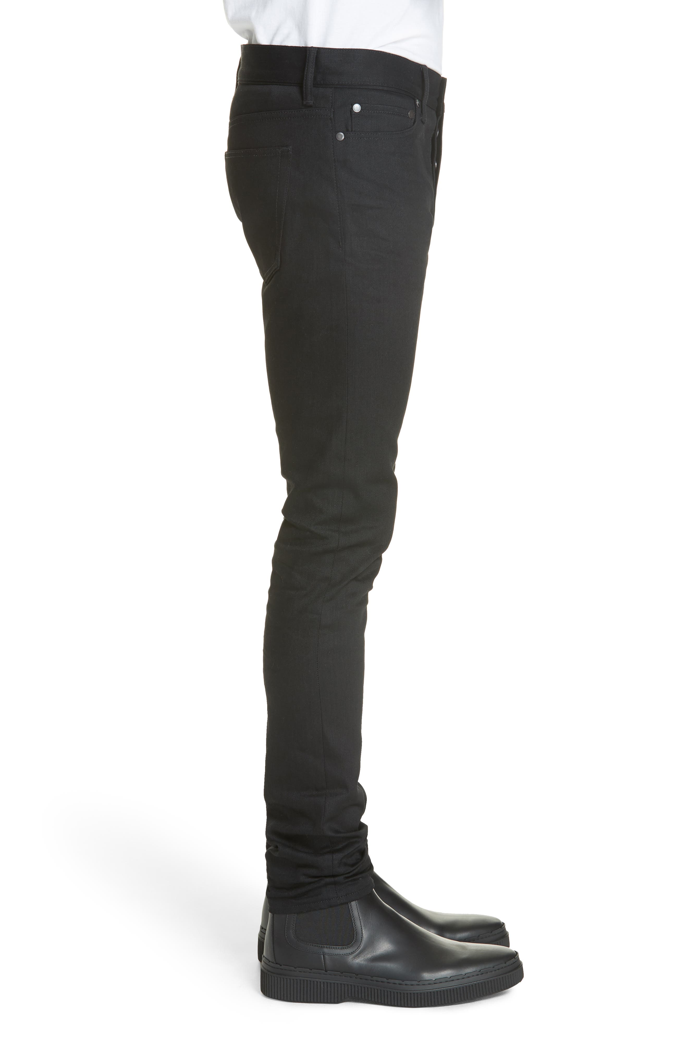 The Cast 2 Skinny Fit Jeans,                             Alternate thumbnail 3, color,                             OBSIDIAN