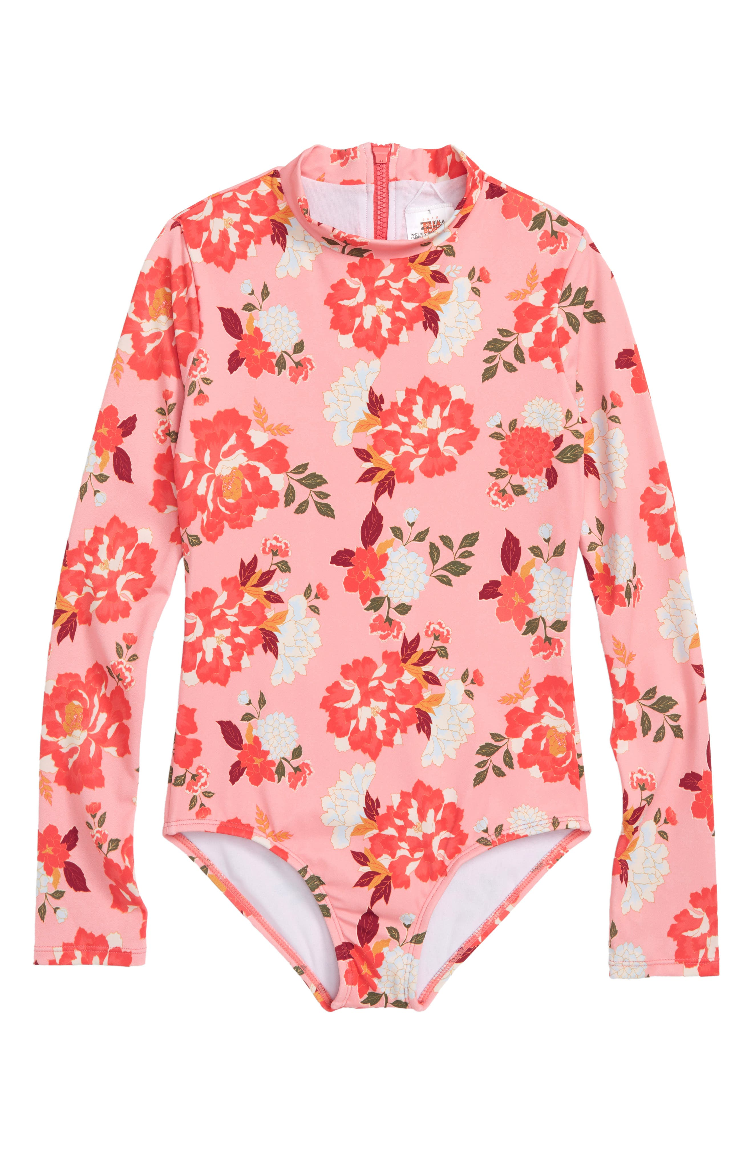 All Along One-Piece Rashguard Swimsuit,                         Main,                         color, 660