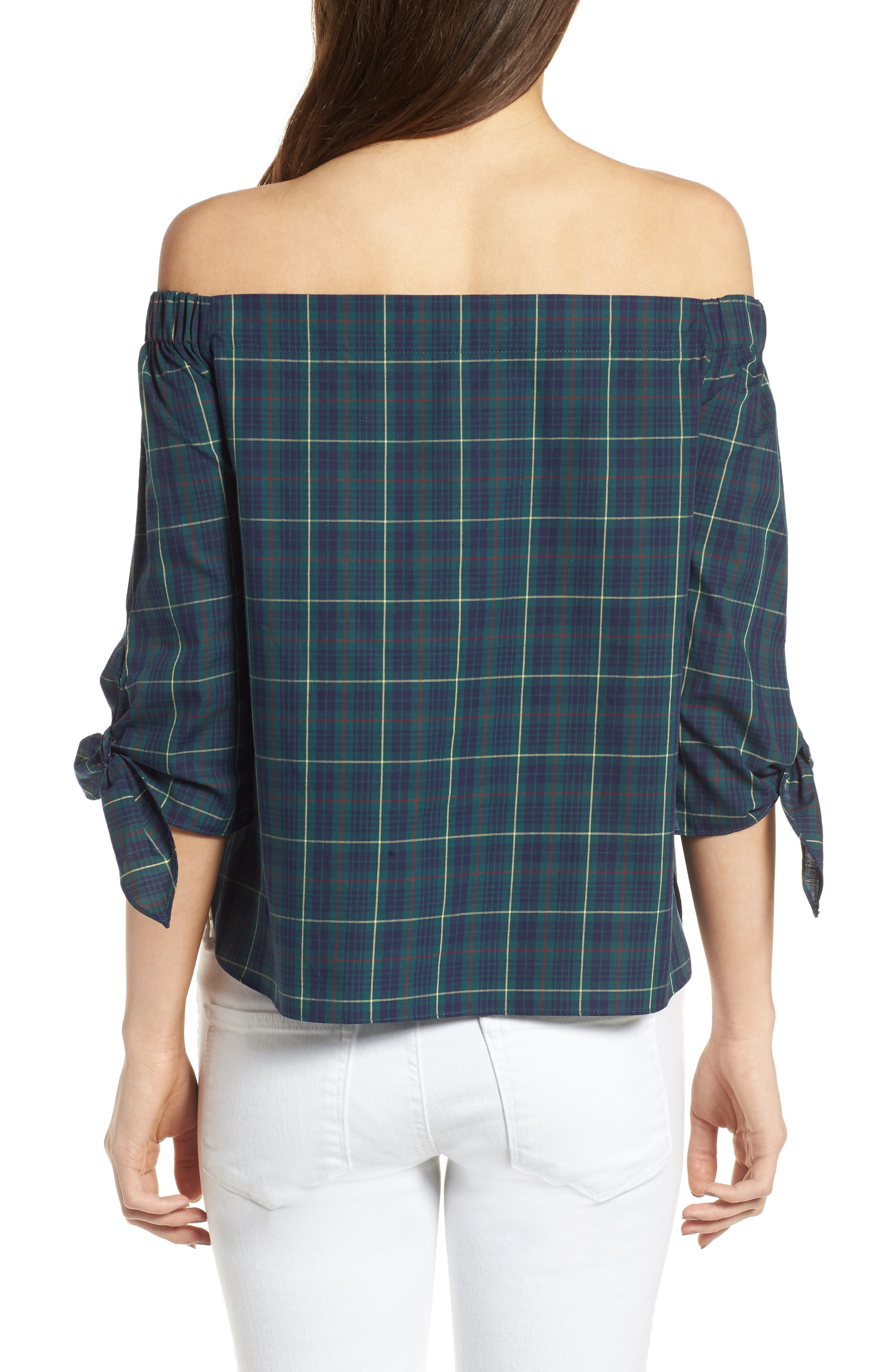 Twin Fin Off the Shoulder Top,                             Alternate thumbnail 2, color,                             479
