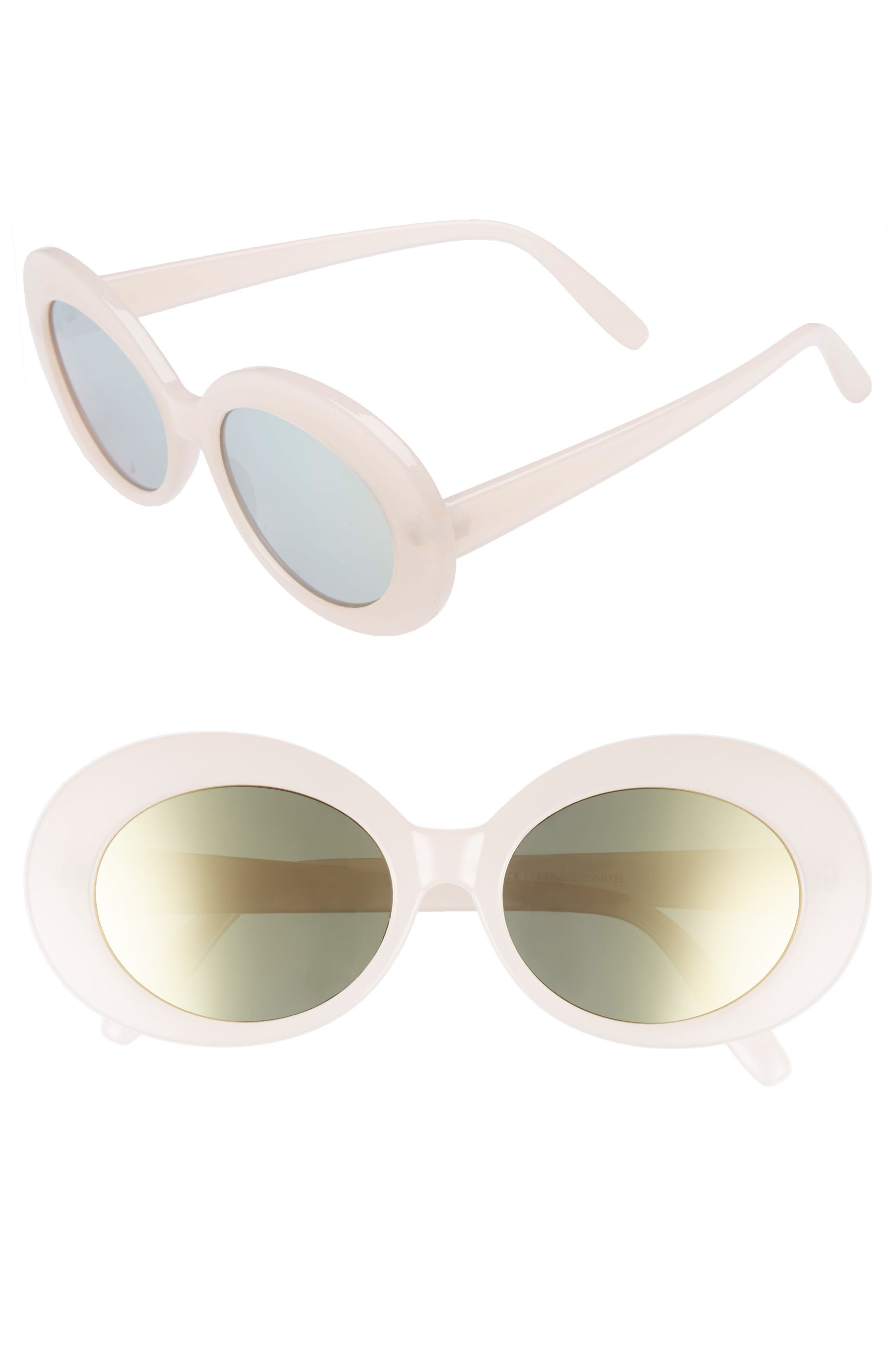 55mm Oval Sunglasses,                             Main thumbnail 1, color,                             650