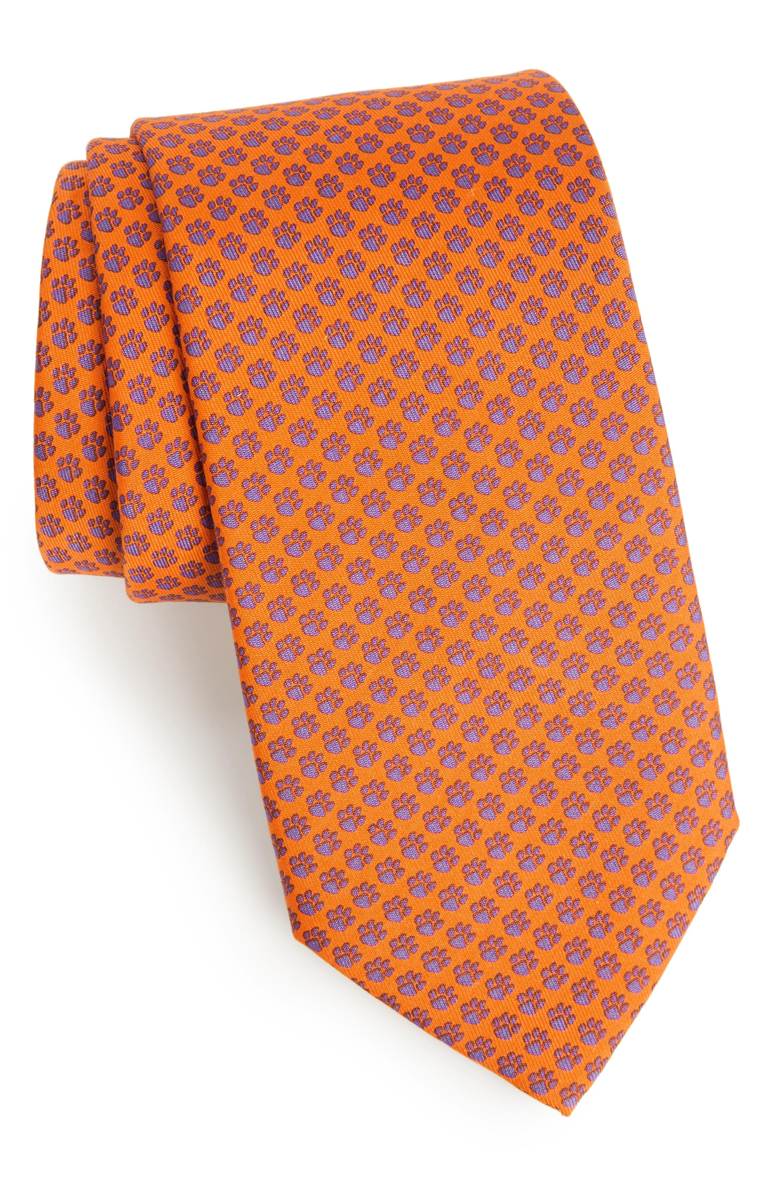 Clemson Silk Tie,                             Main thumbnail 1, color,                             800