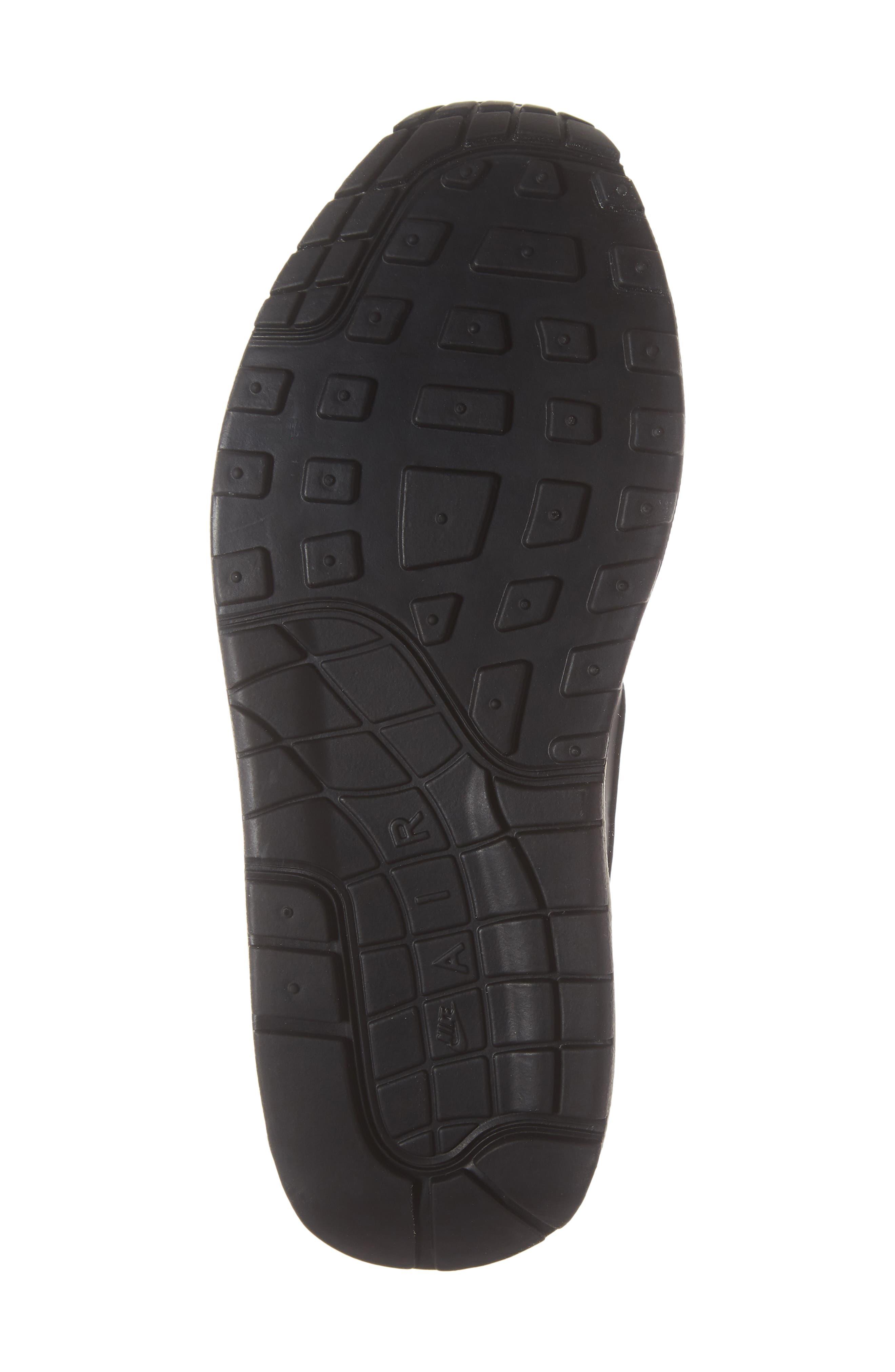 'Air Max 1 ND' Sneaker,                             Alternate thumbnail 6, color,                             BLACK/ BLACK-BLACK- WHITE