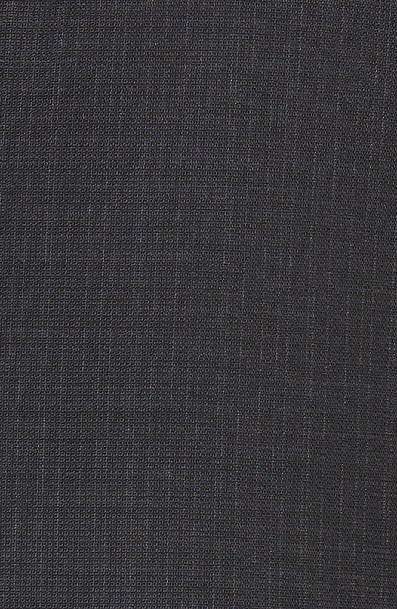 Reymond/Wenten Extra Trim Fit Check Wool Suit,                             Alternate thumbnail 7, color,                             BLACK
