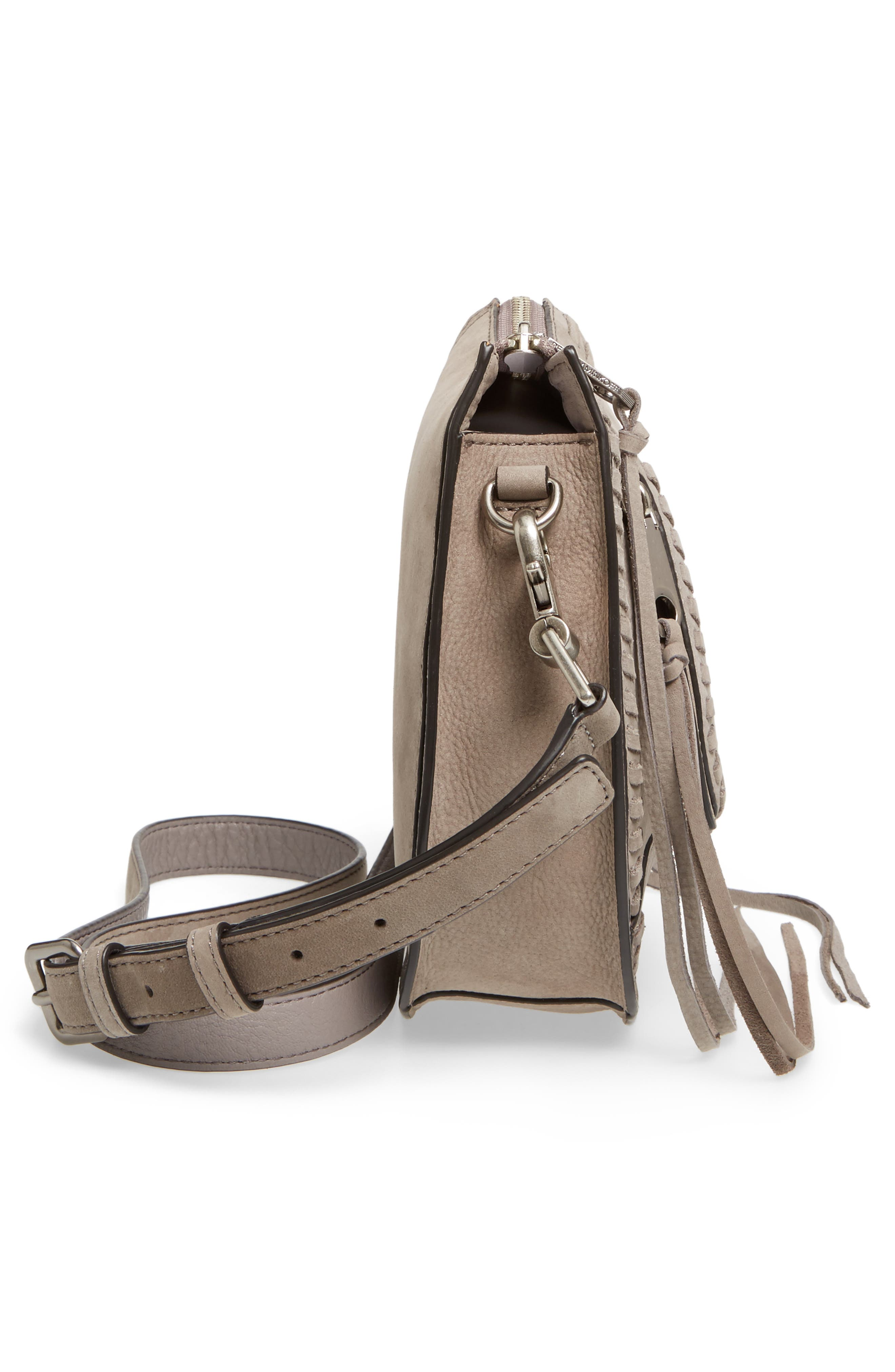 Mini Vanity Saddle Bag,                             Alternate thumbnail 5, color,                             020