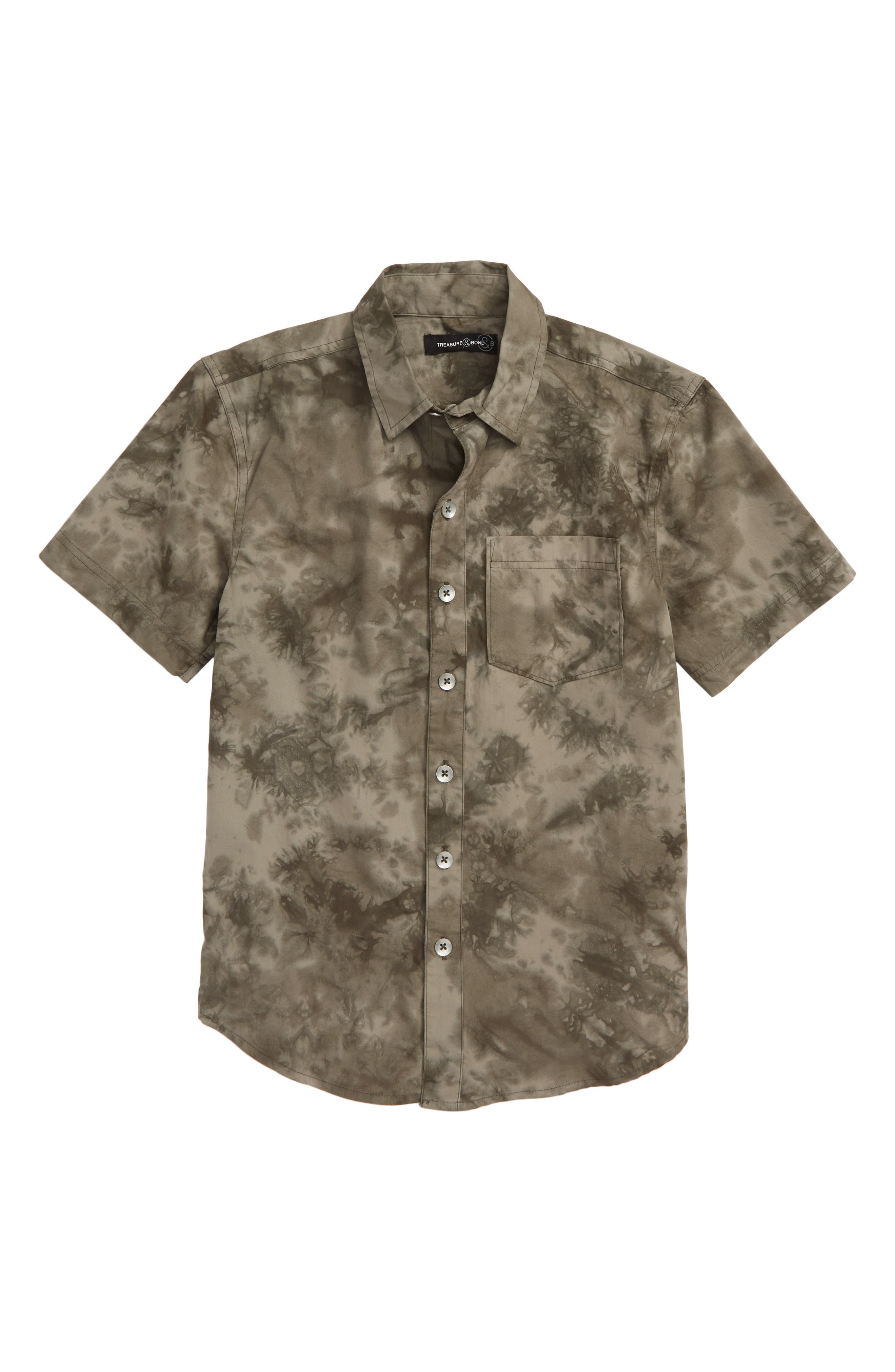 Tie Dye Poplin Shirt,                         Main,                         color, 021